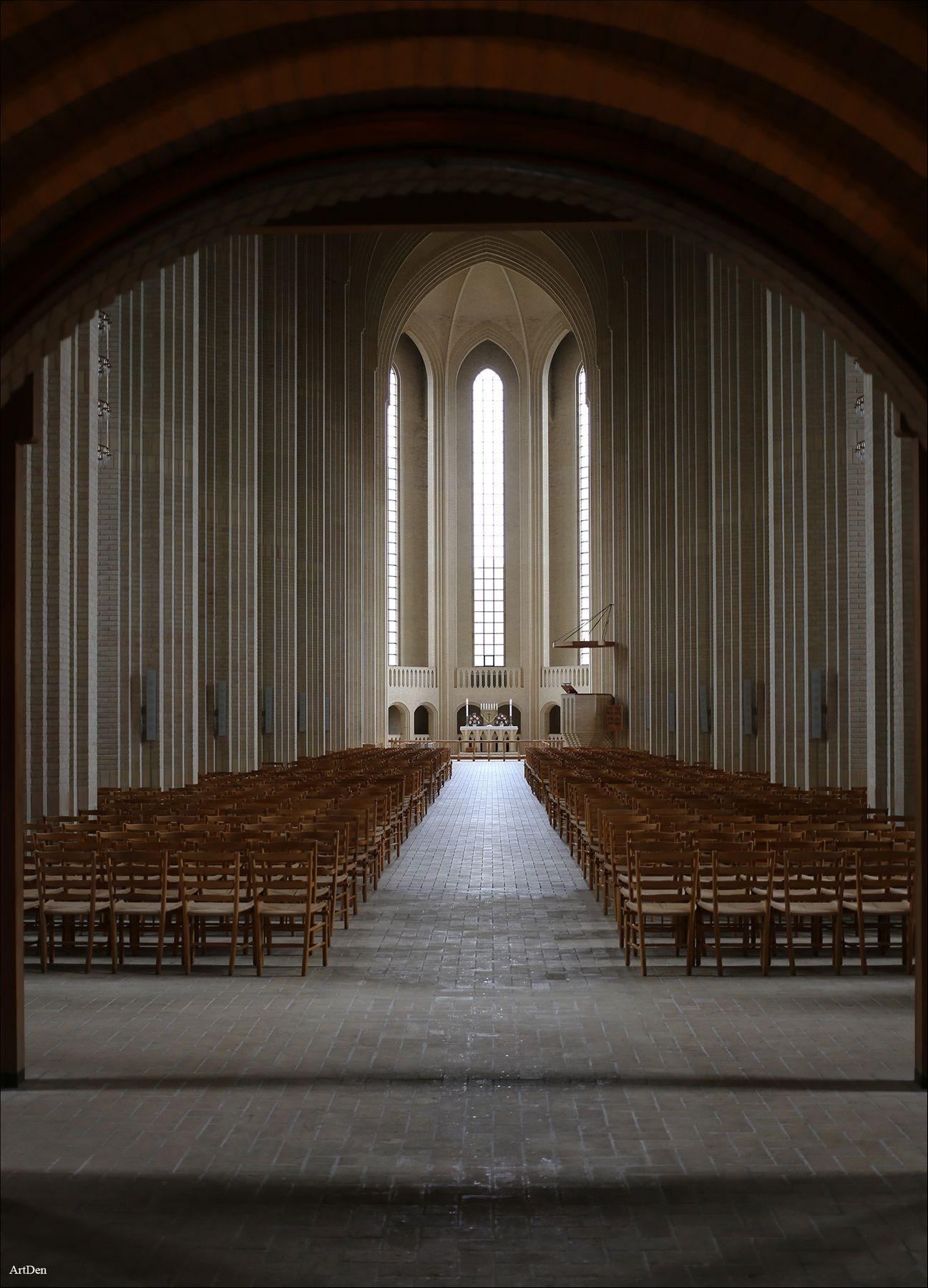 Церковь Грундтвига в Копенгагене Дания Копенгаген Дизайн