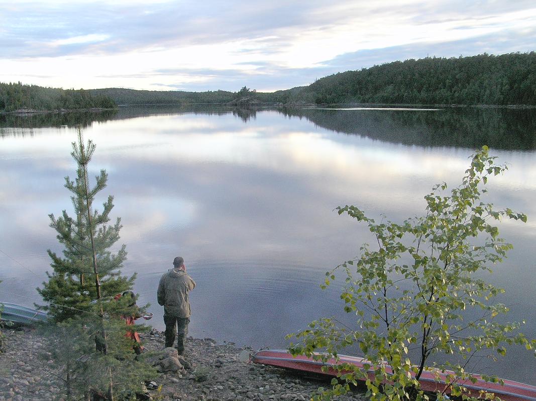Карелия ночь озеро
