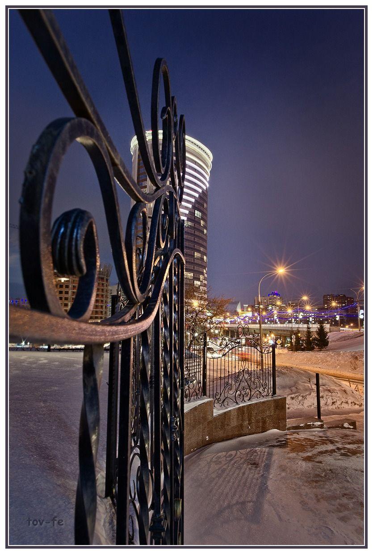 Огоньки_7 Город зима вечер Новосибирск