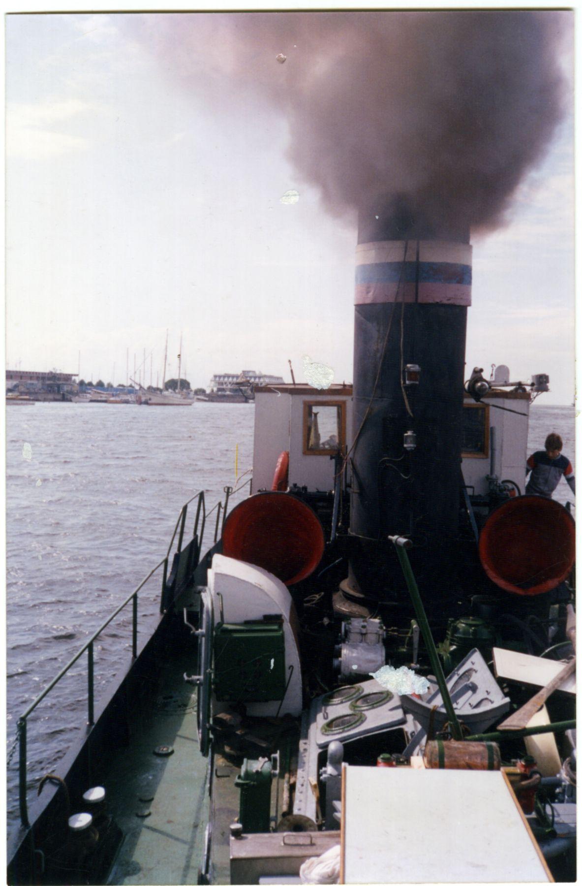 ** Первый выход парохода ''Дункан''(1901) после ремонта.