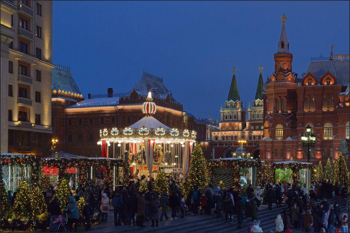 Москва новогодняя (14) Новый год Рождество Москва город