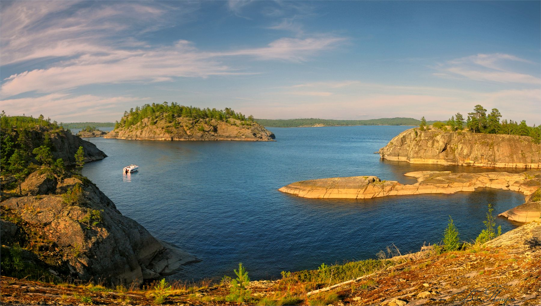 Ладожские острова Острова озеро катер