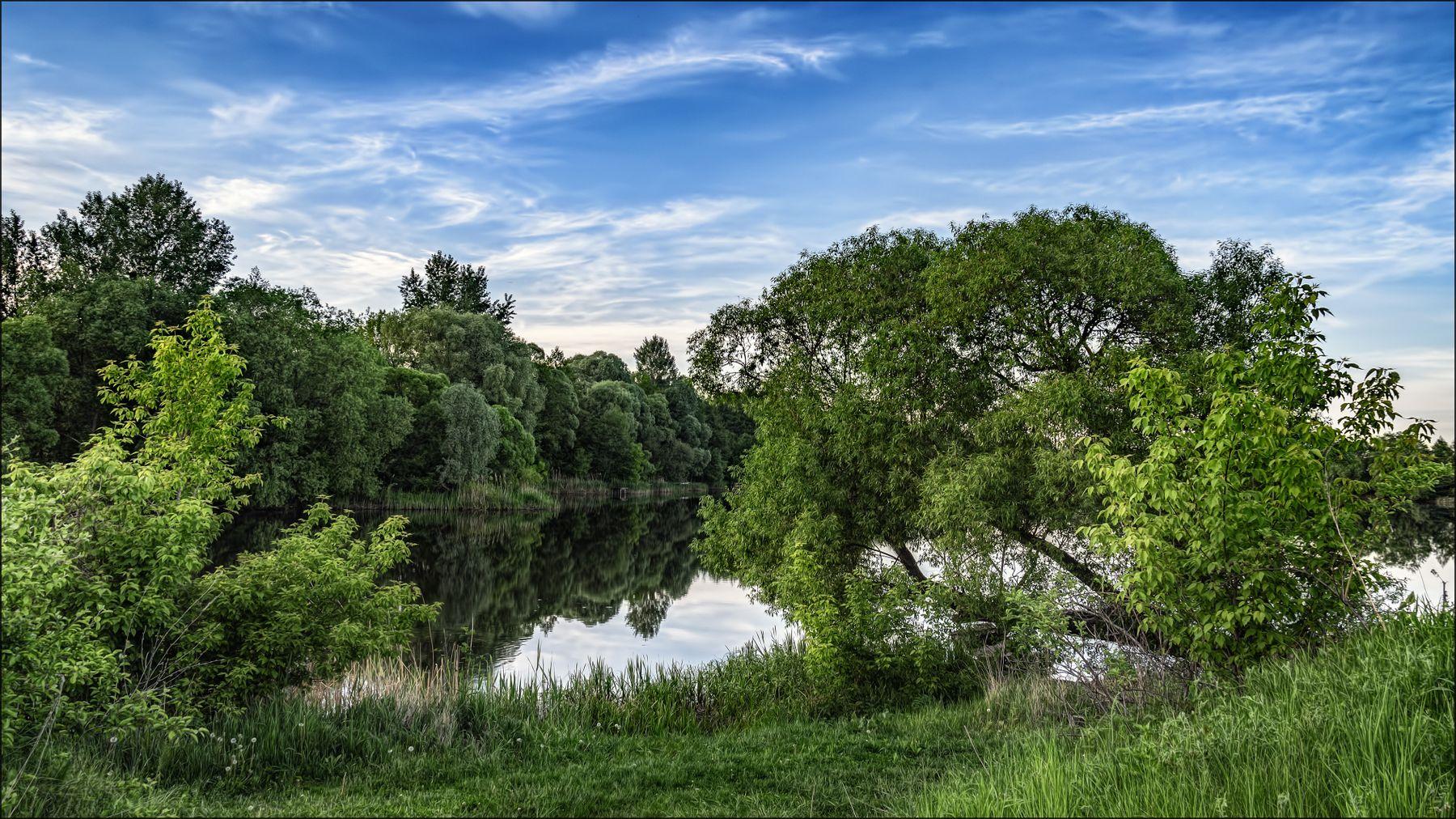 *** весна пейзаж река