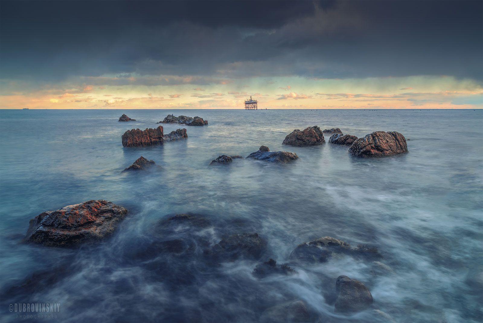 *** Крым море зима камни Кацивели Океанографическая станция