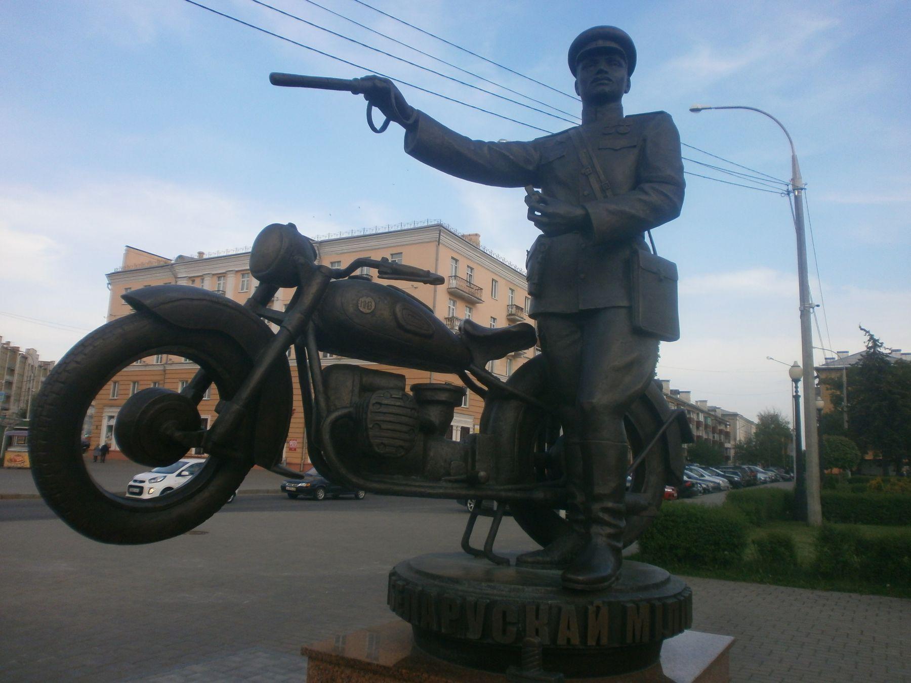 Памятник 100 лет Белорусской милиции 2017 г. Гомель. Гомель