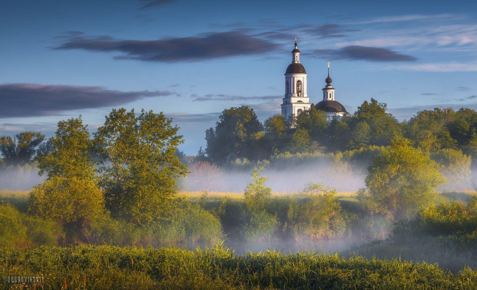 Филипповское Филипповское Владимирская область туман рассвет храм село