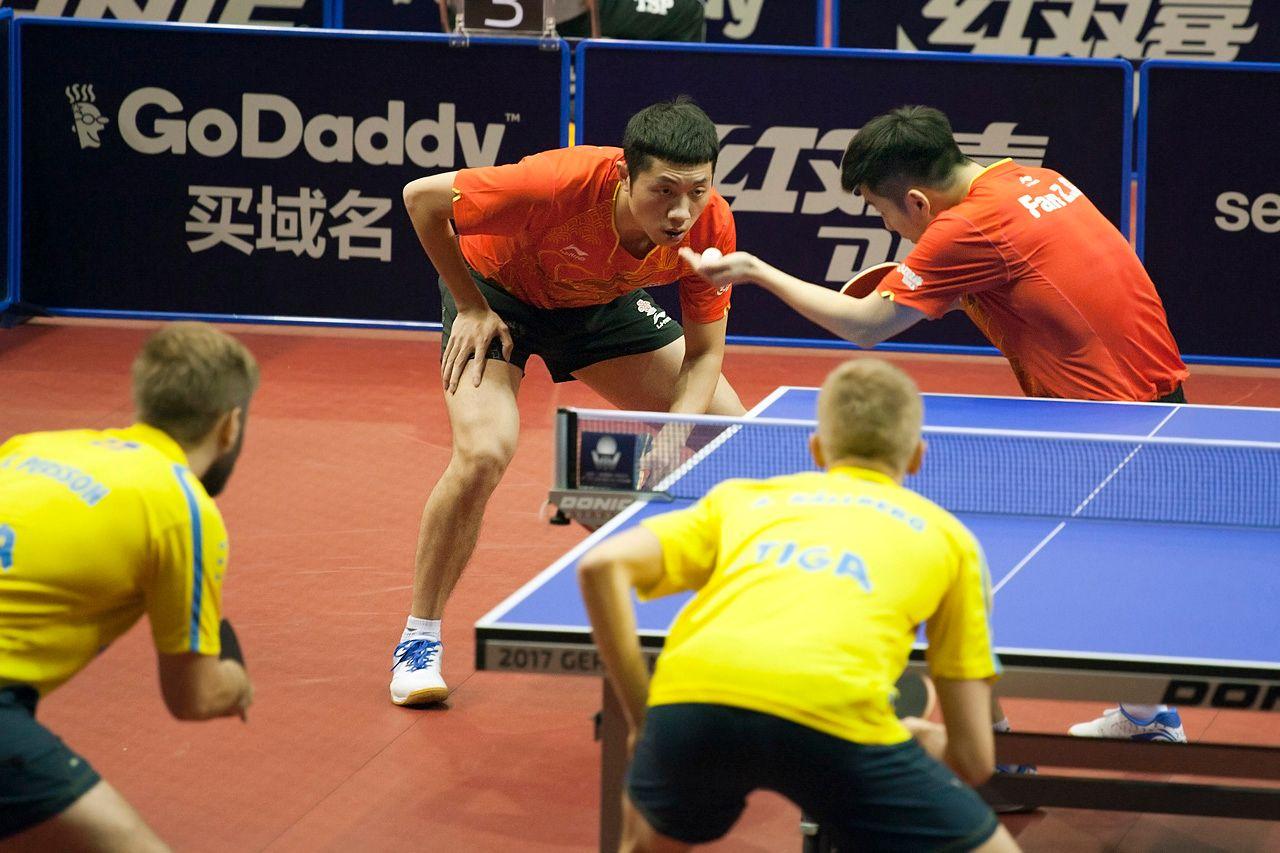 Подача настольный теннис ittf worldtour xu xin fan zhendong