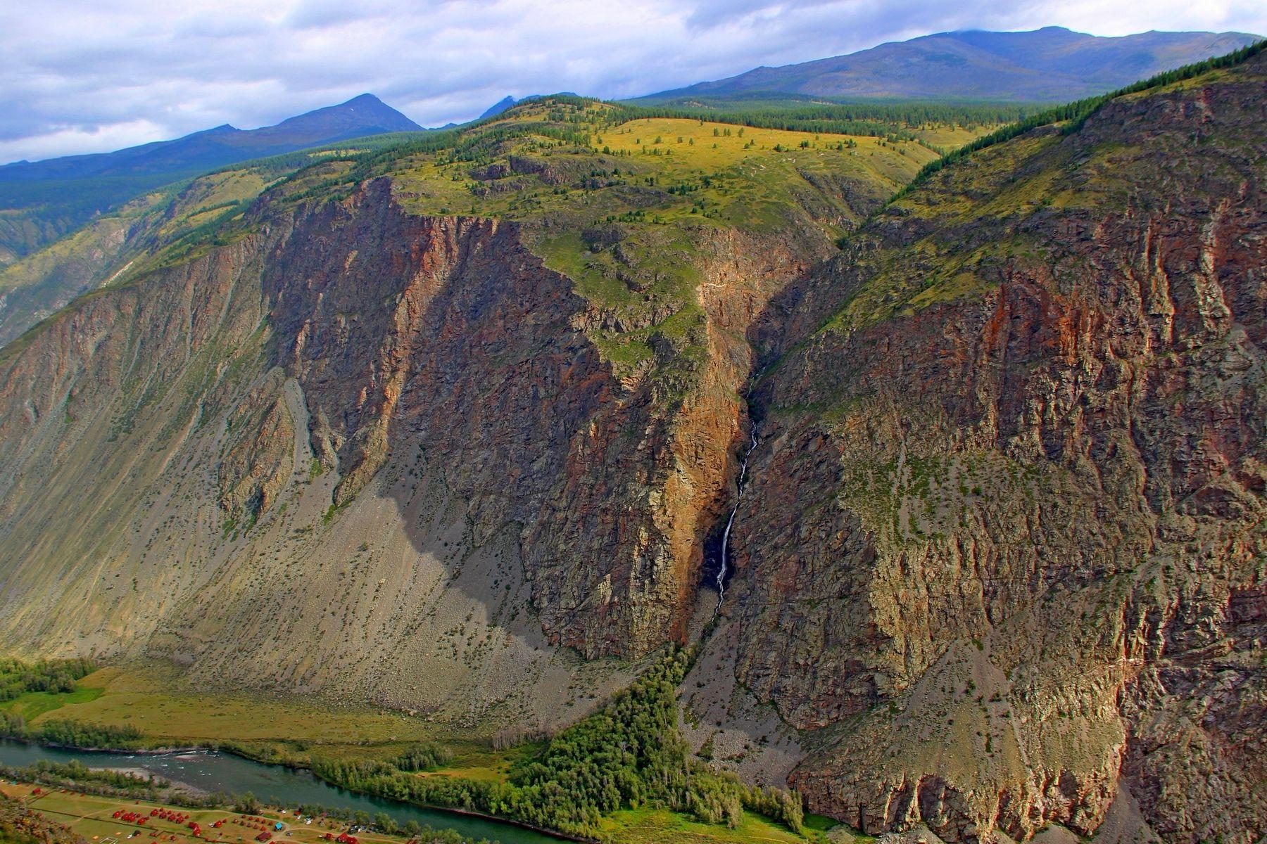Карасу кату-ярык карасу водопад долина чулышман