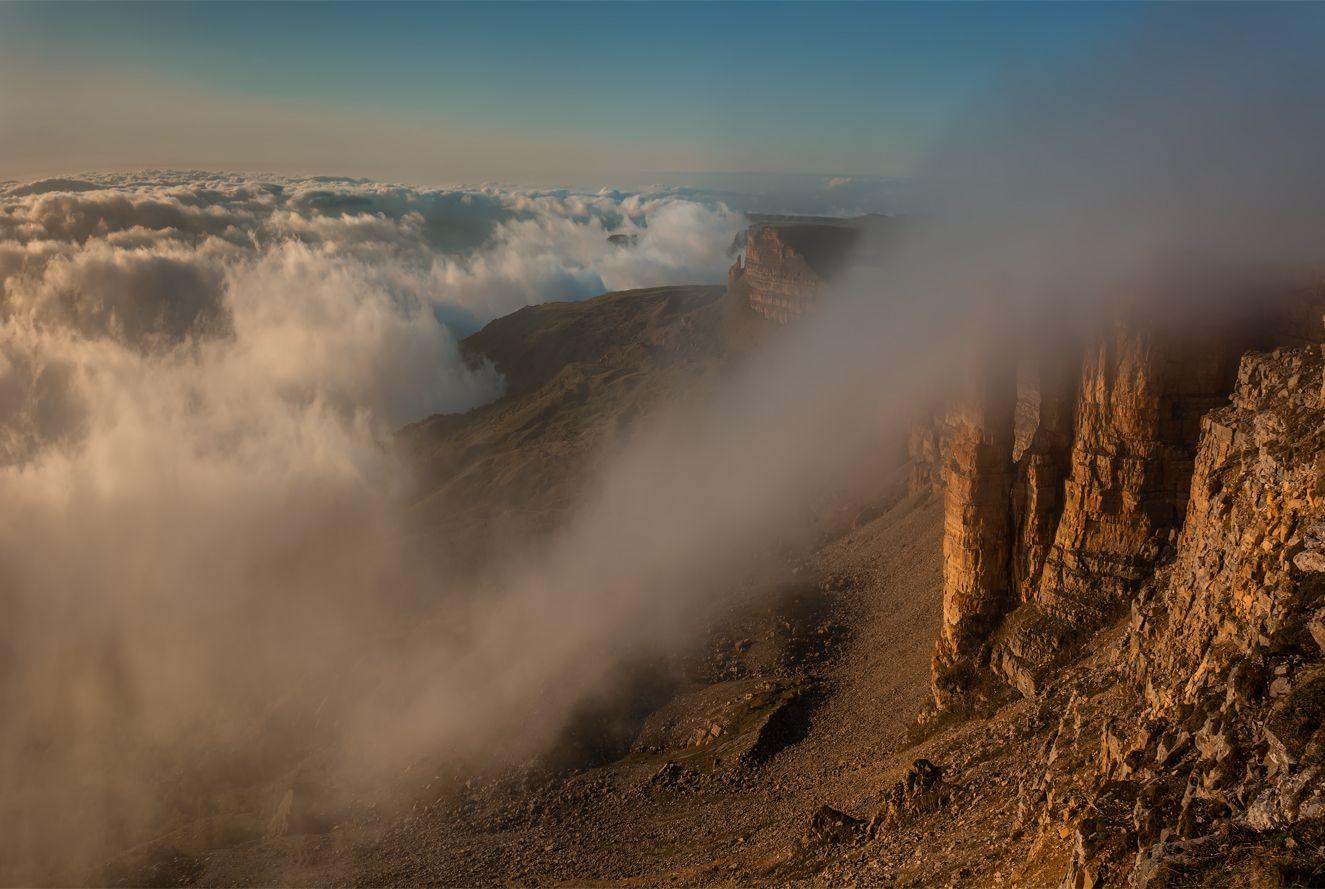 Облака природа пейзаж горы кавказ россии дикая закат свет облака вечер весна