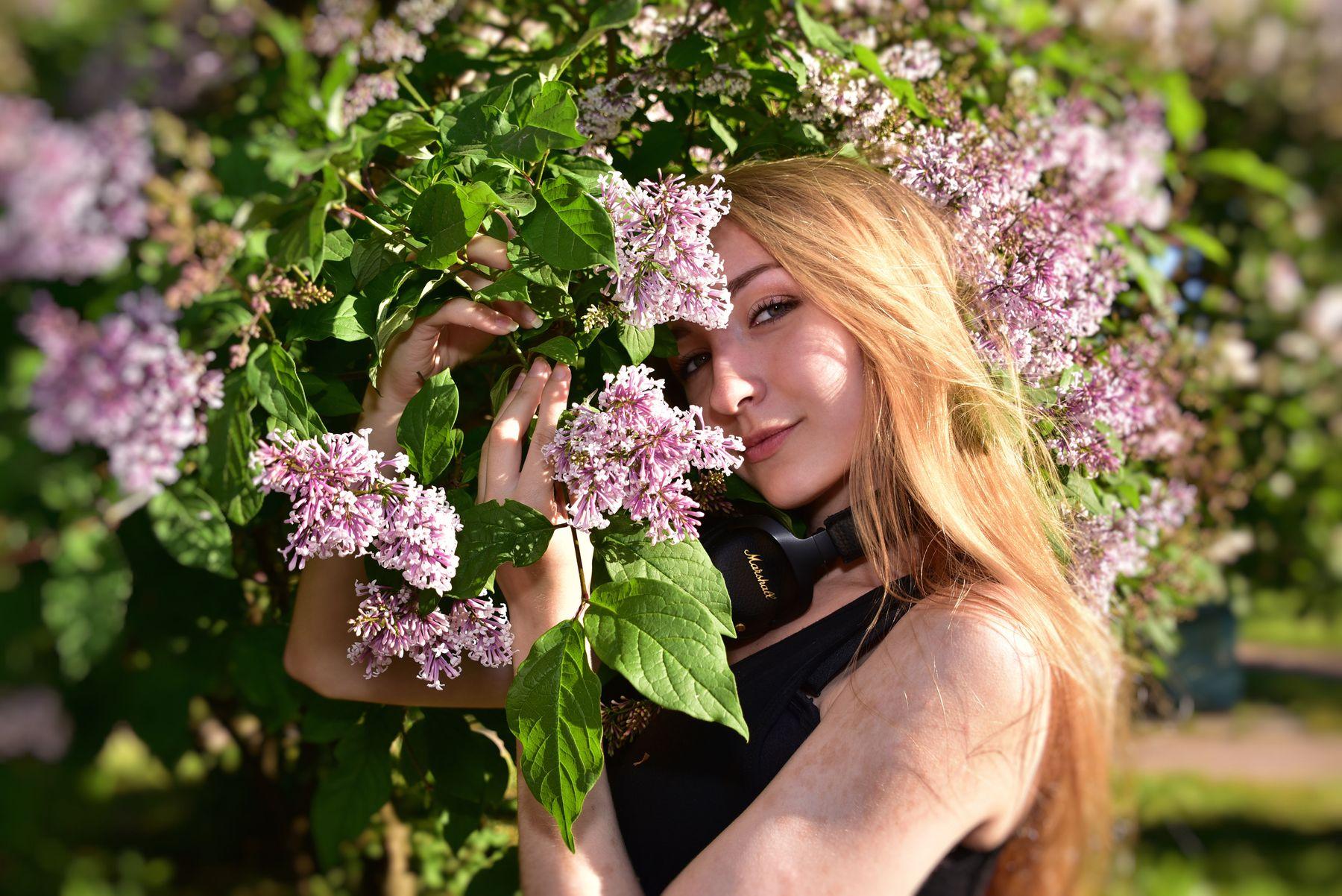 Сирень сирень девушка портрет цветы красивое фото