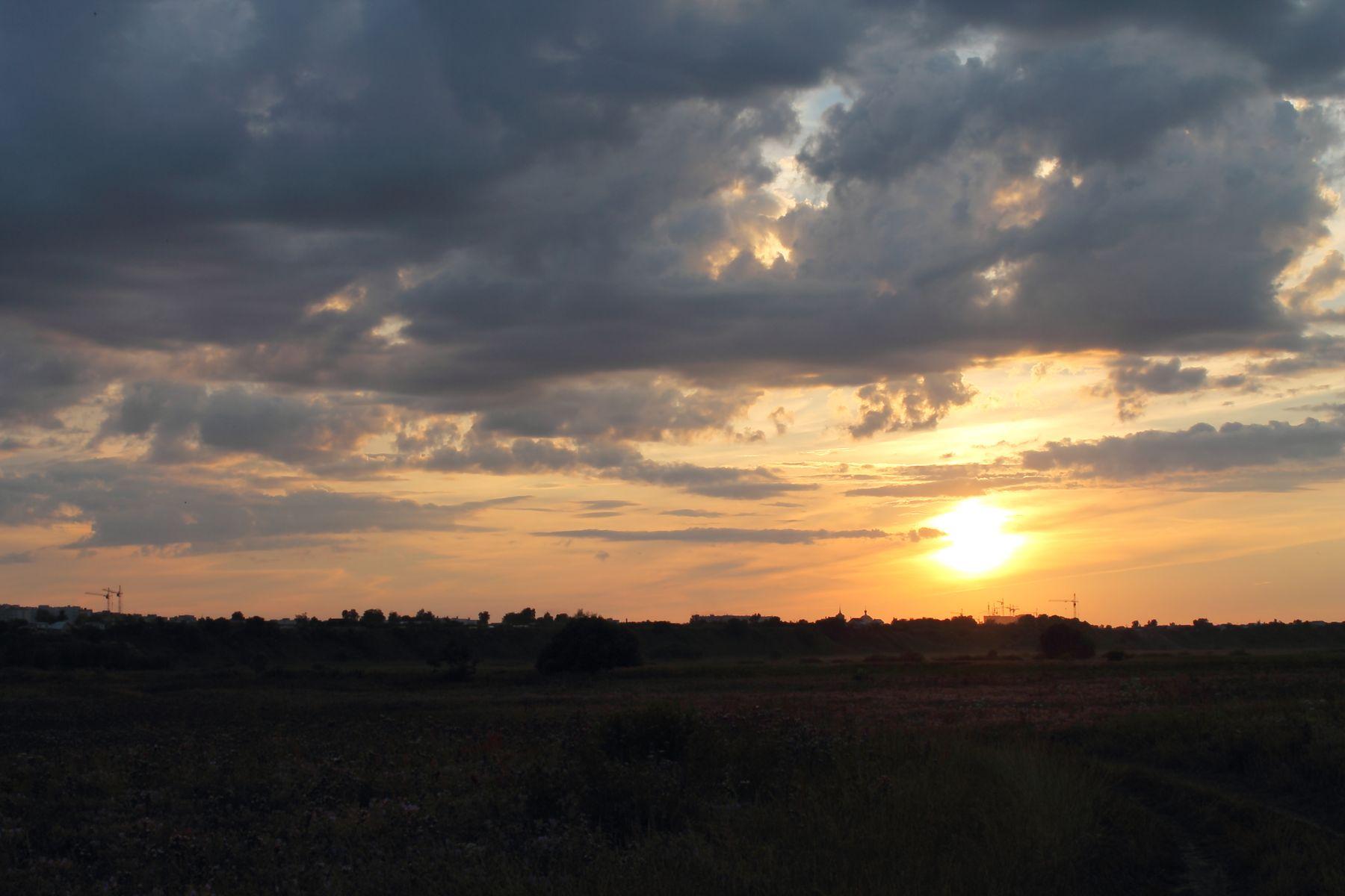 *** небо солнце облака закат sky sun clouds sunset
