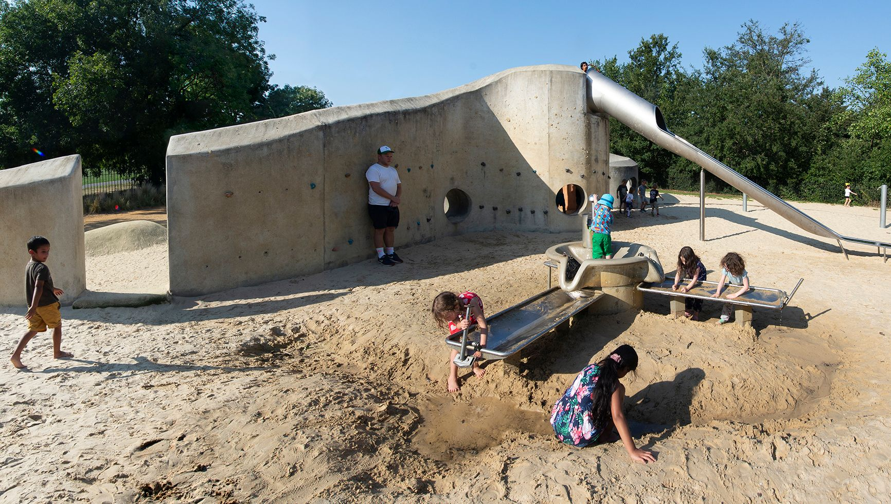 ДЕТСКАЯ ФАБРИКА Лондон Риджентс-Парк детская площадка мокрый песок
