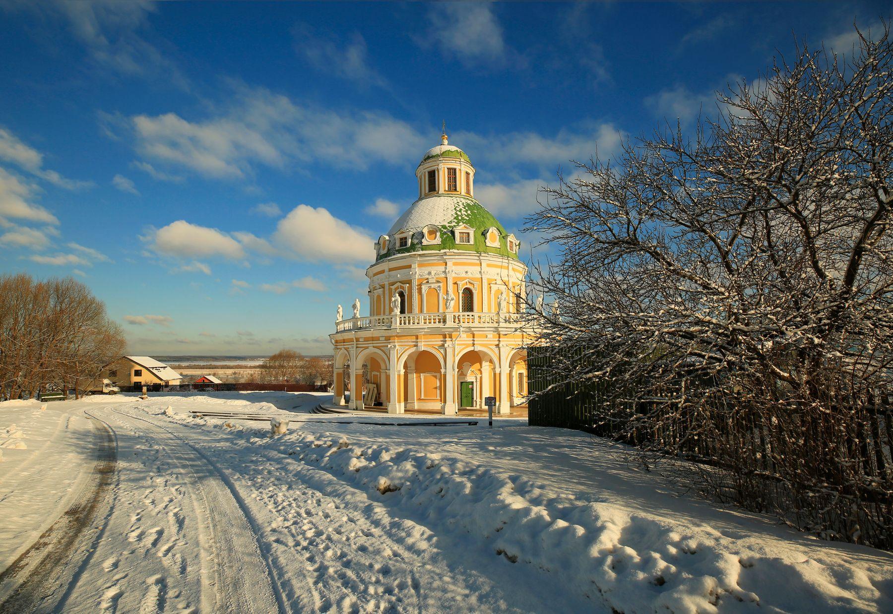 Зимняя зарисовка Подмоклово Церковь Рождества Богородицы