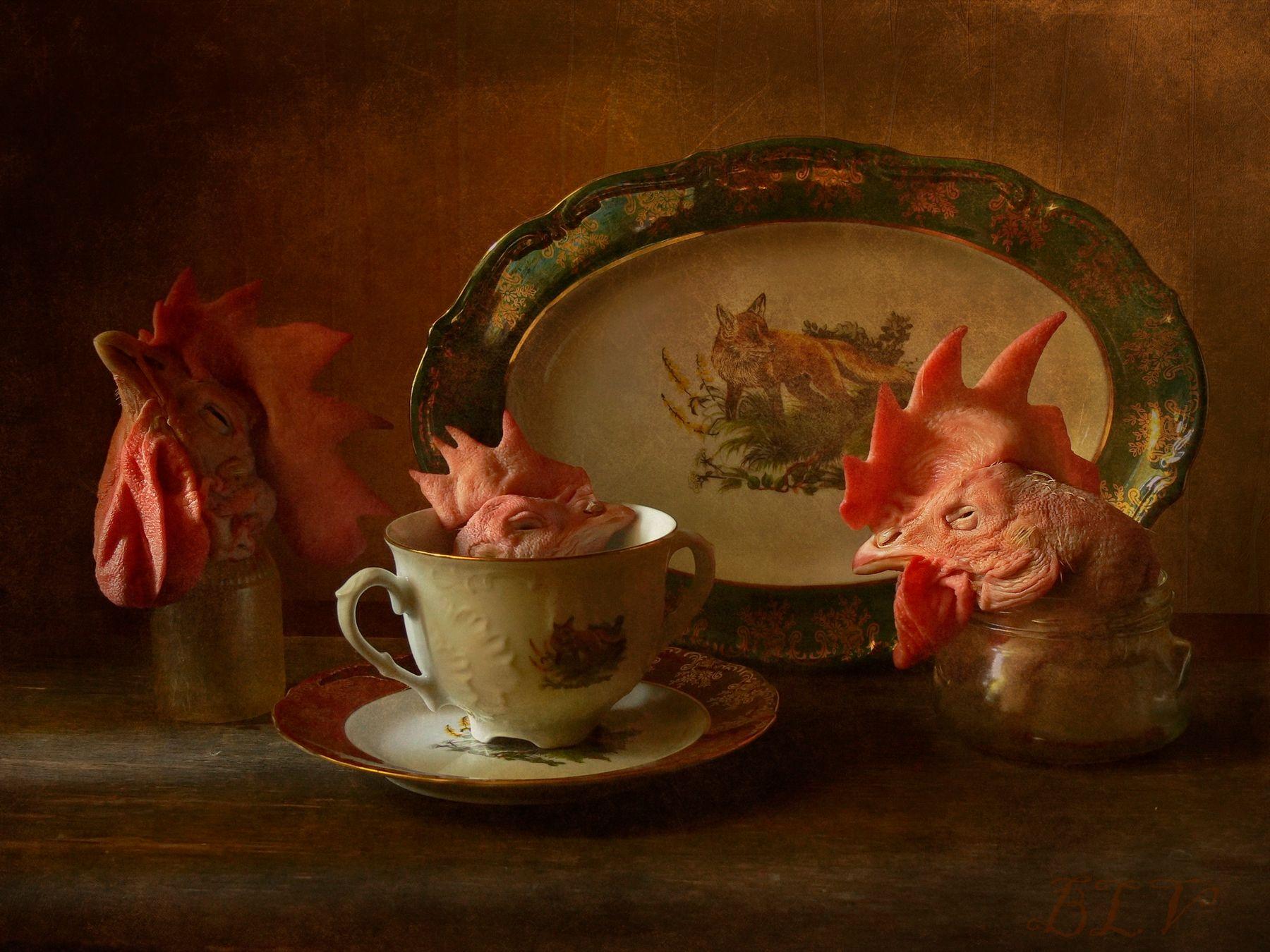 Философы натюрморт посуда завтрак