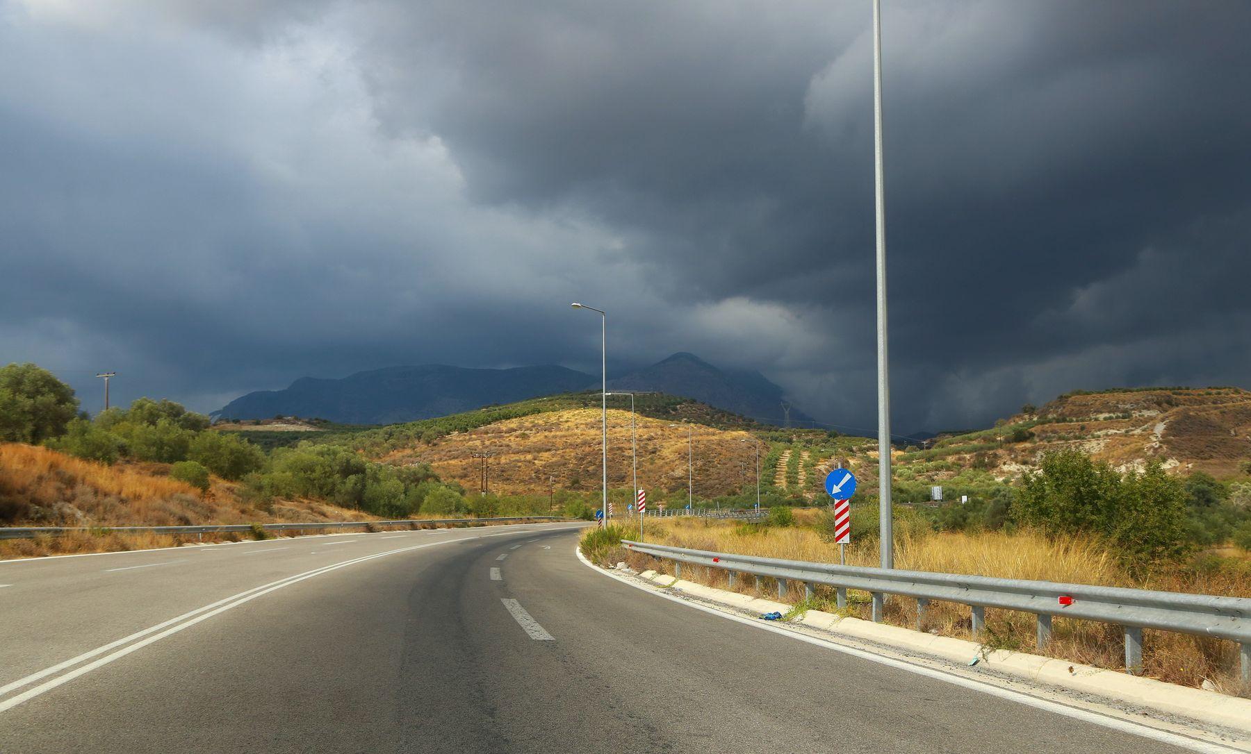 Дорога в непогоду ... дорога гроза путешествие