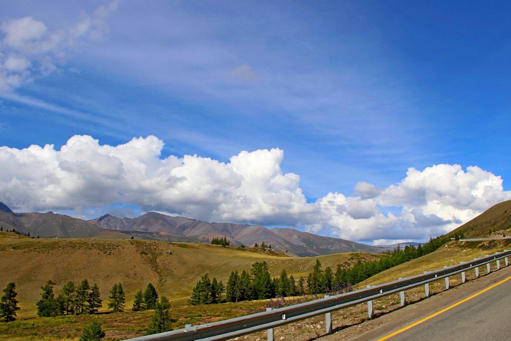 ***** тракт чуйский облака лето