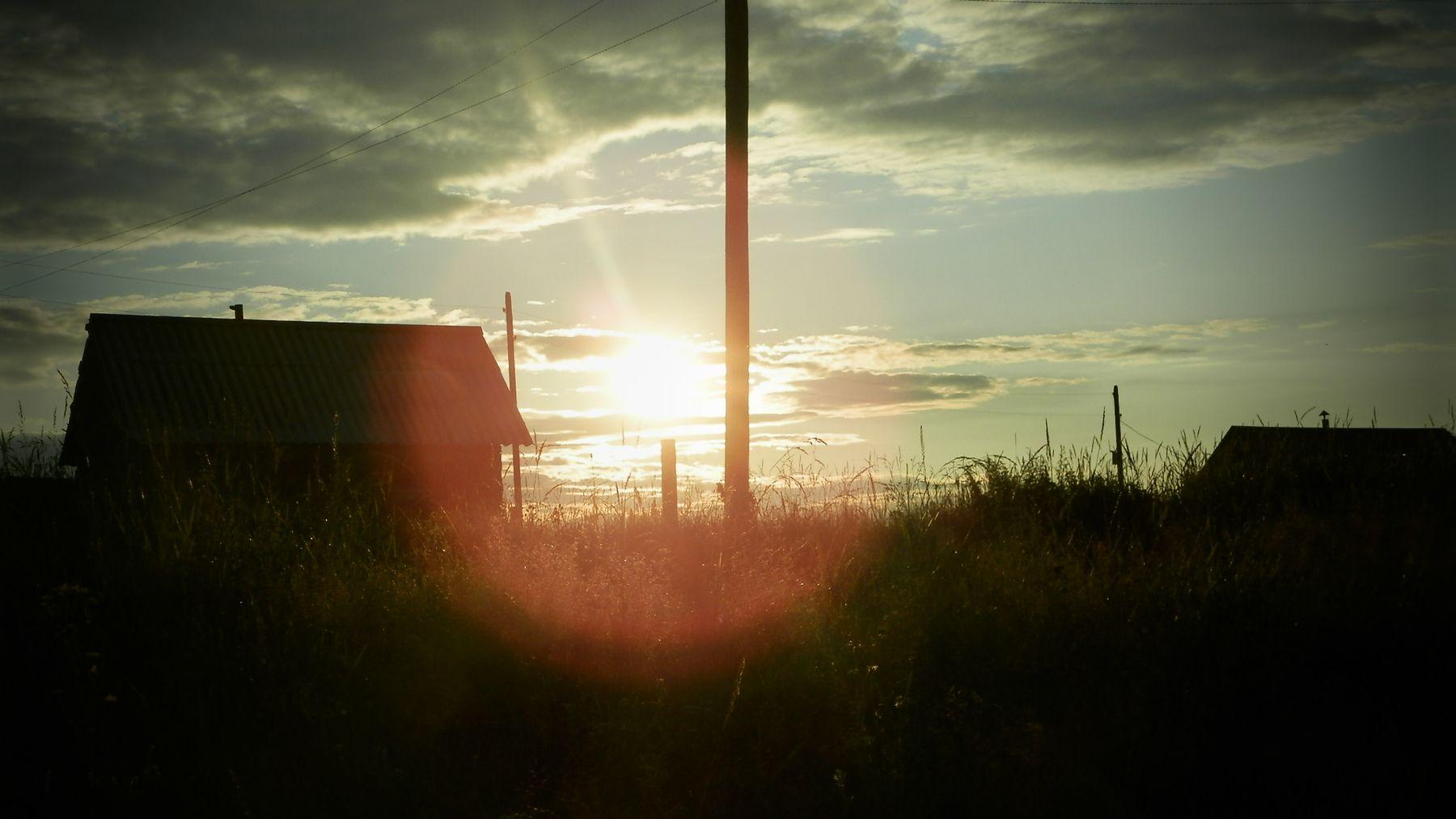 Деревенский закат деревня закат лето небо солнце