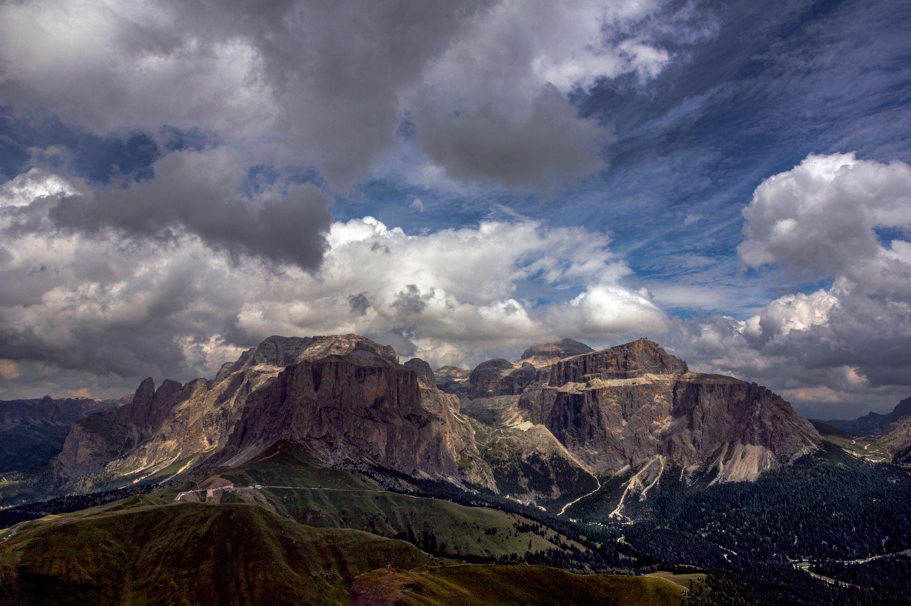 Gruppo del Sella. Доломитовые Альпы.