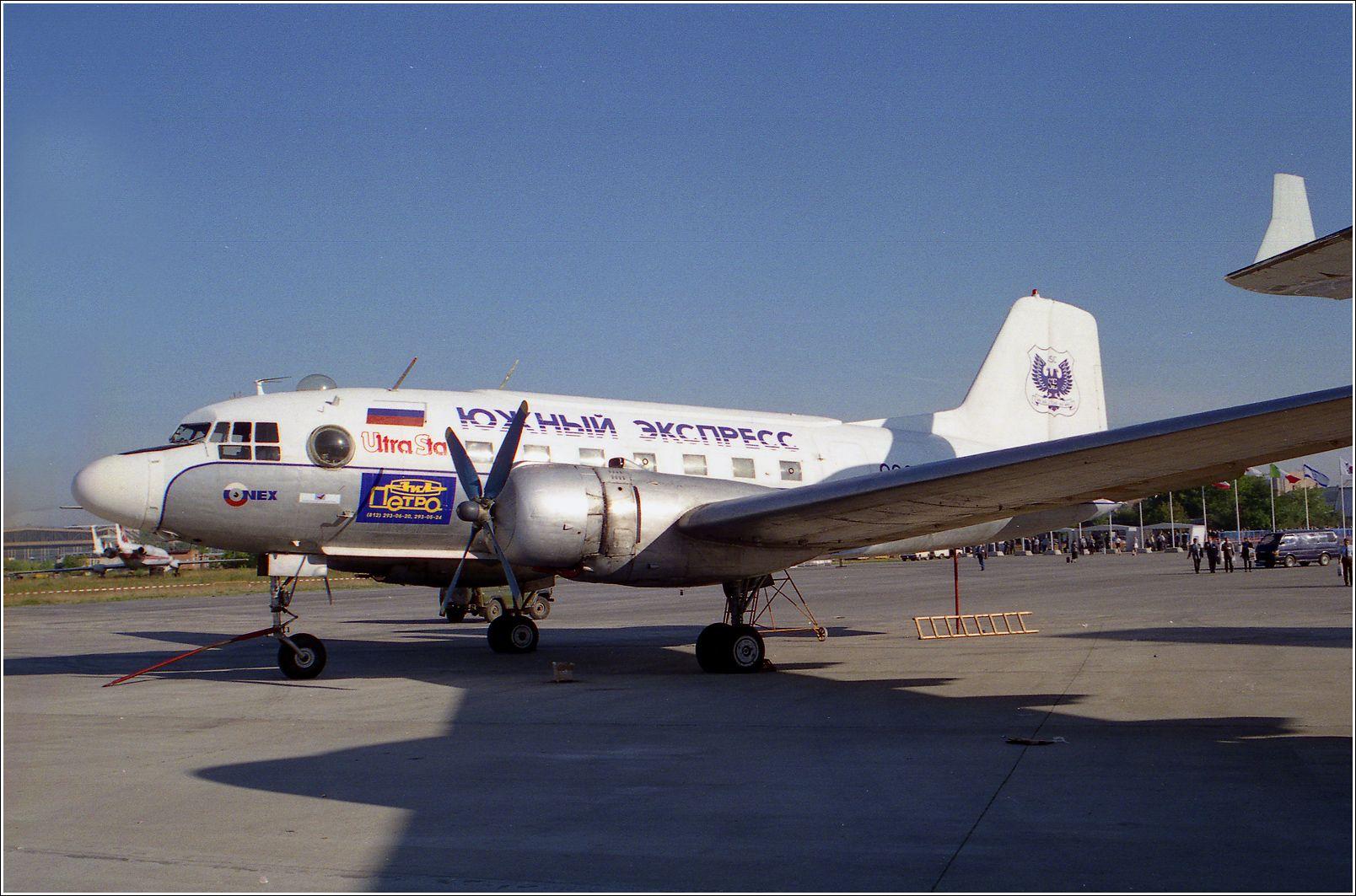 Ил-14 (1998 г.) Ил-14 авиация самолет стоянка Жуковский 1998