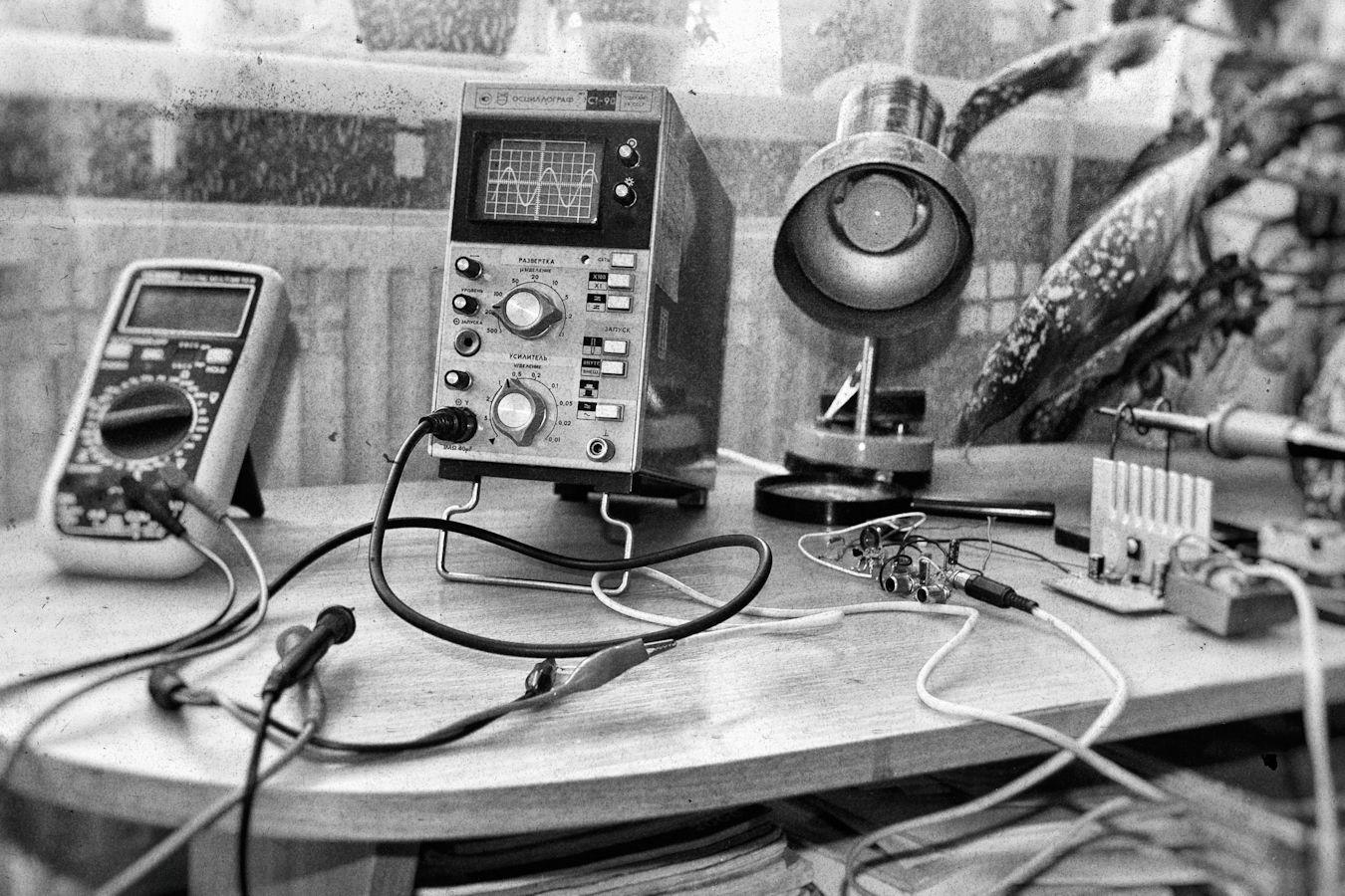 73 !! Осциллограф радиолюбитель радиотехника