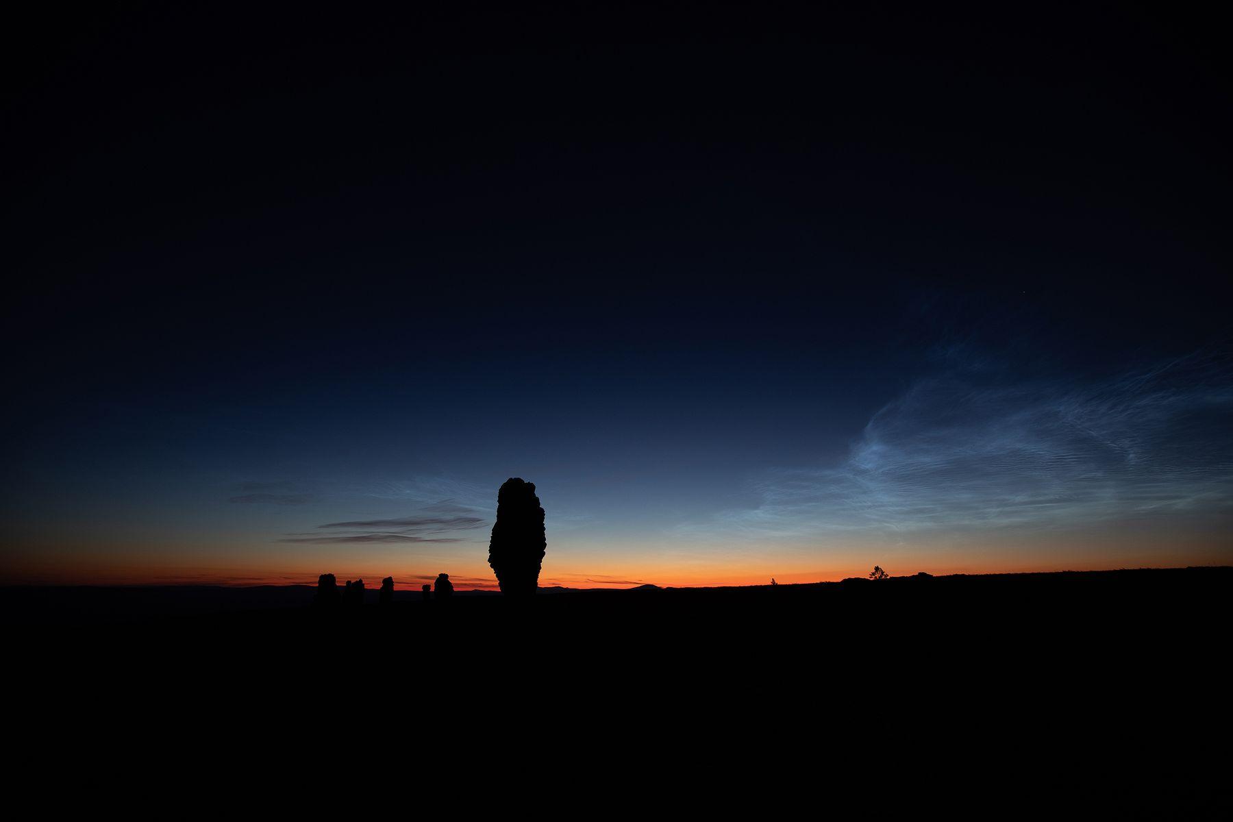 плато Маньпупунёр Маньпупунёр ночь Северный Урал