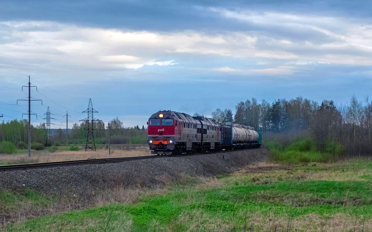 2ТЭ116УД-011 2ТЭ116УД-011 сев сжд жд кострома сендега перегон поезд транспорт локомотив тепловоз