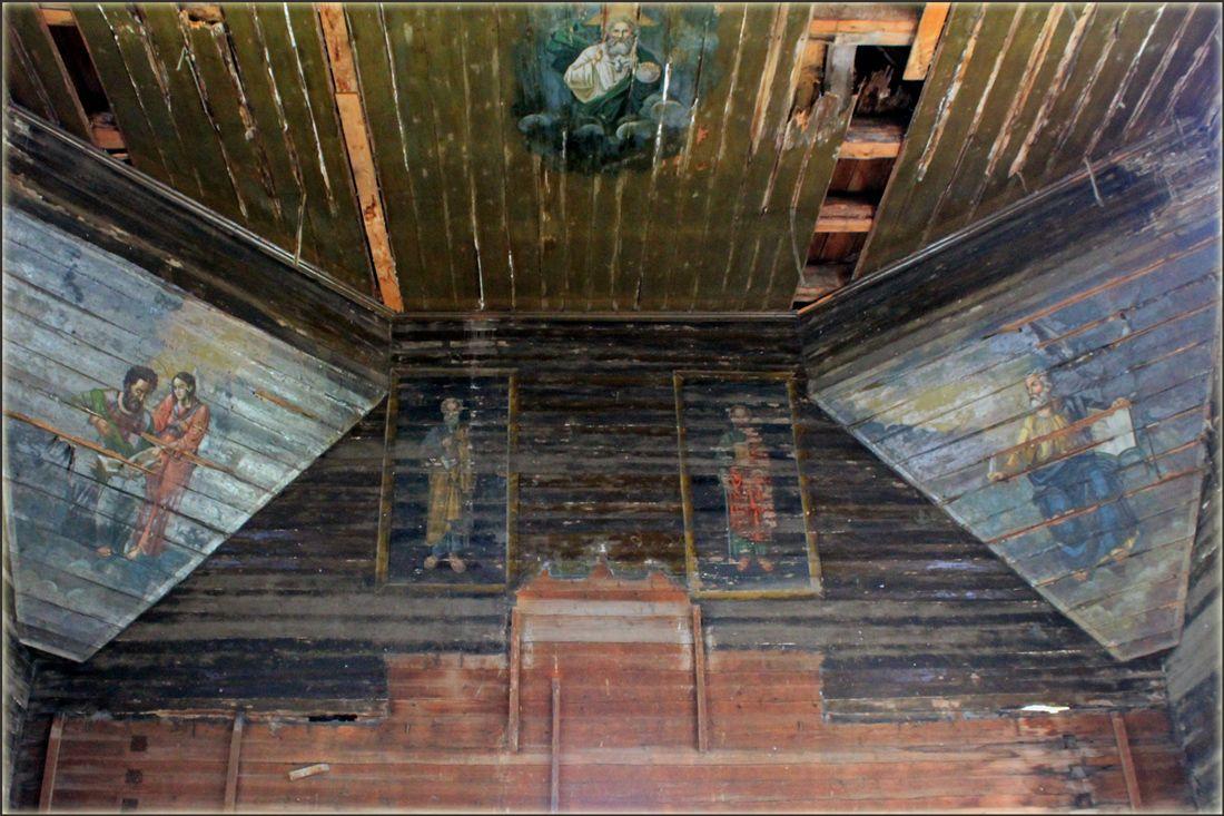 Роспись на стенах старой церкви Барабаново Церковь Параскевы Пятницы роспись стен