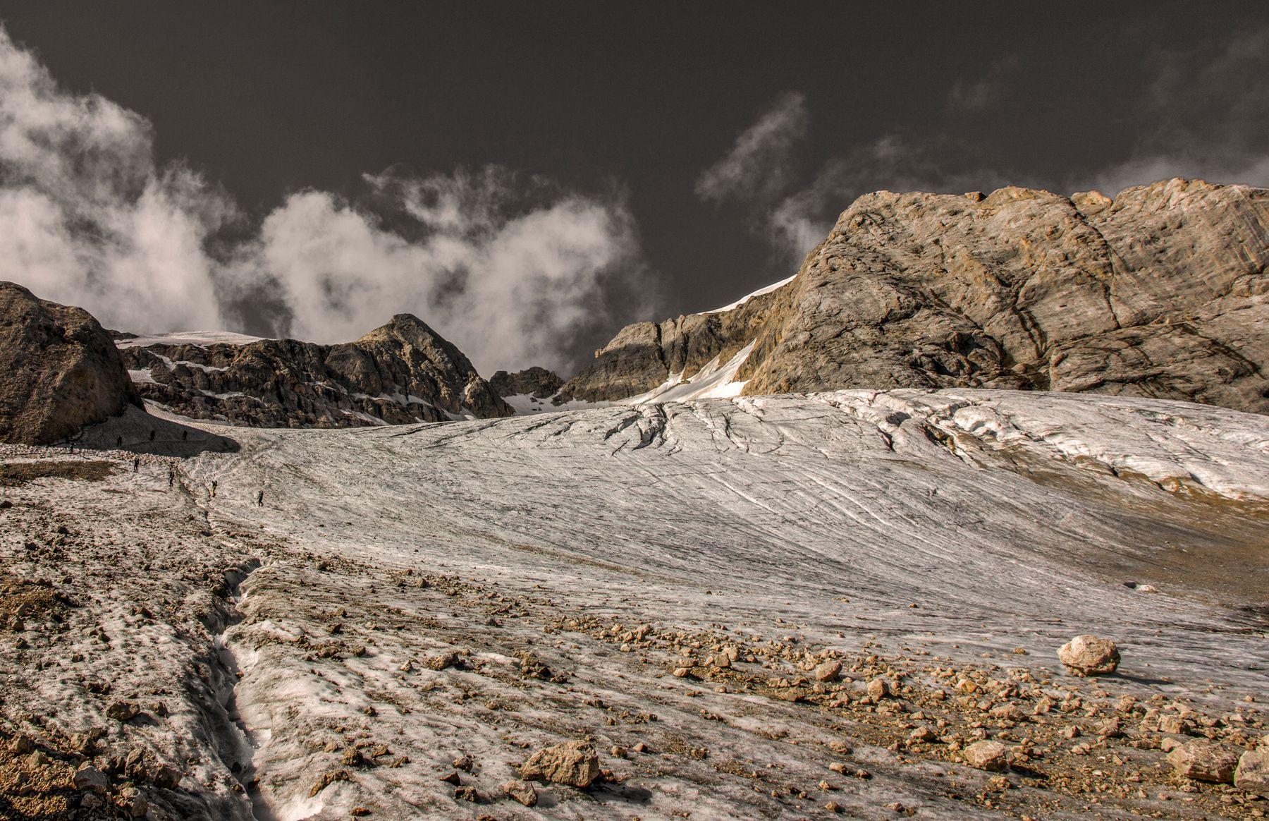 Marmolada glacier.
