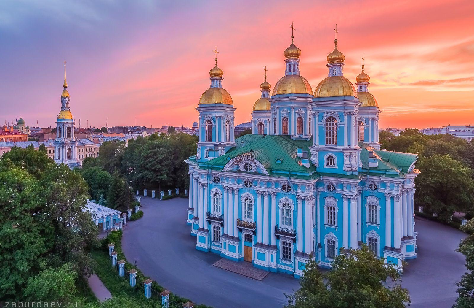 Никольский собор россия петербург вечер лето закат