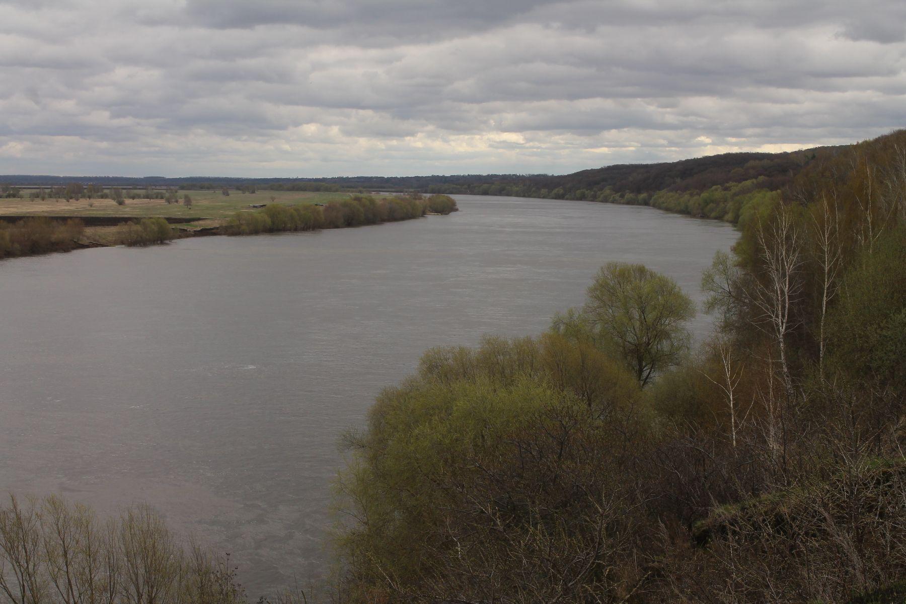 река Ока в Луховицком районе (Московская область) Подмосковье Весна Луховицы