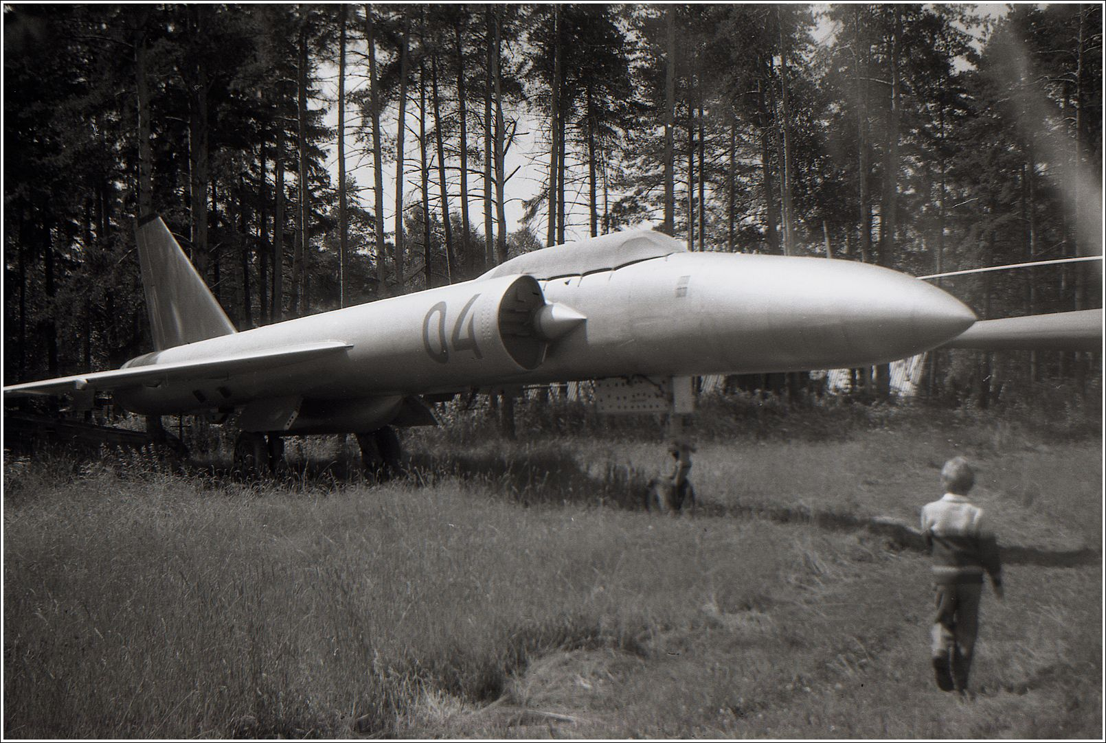 Ла-250А «Анаконда» Ла-250А Анаконда авиация самолет стоянка музей Монино 1986