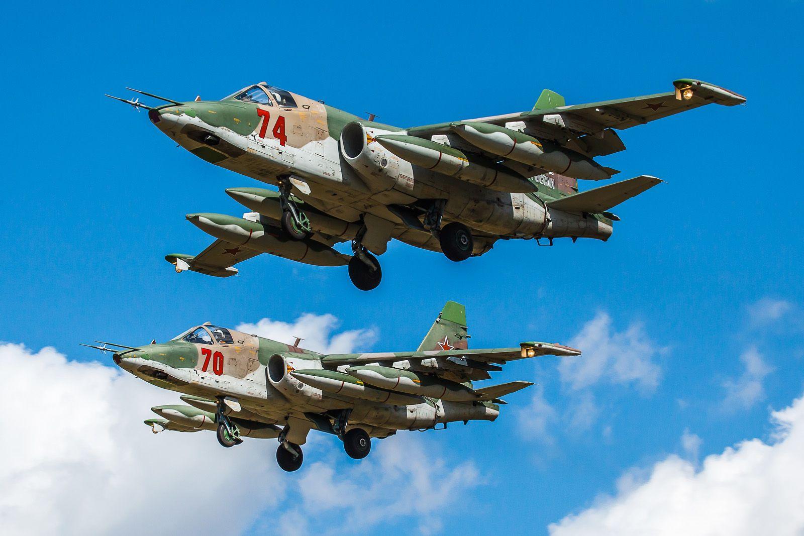 Пара авиабаза Кубинка Су-25 репетиция Парад