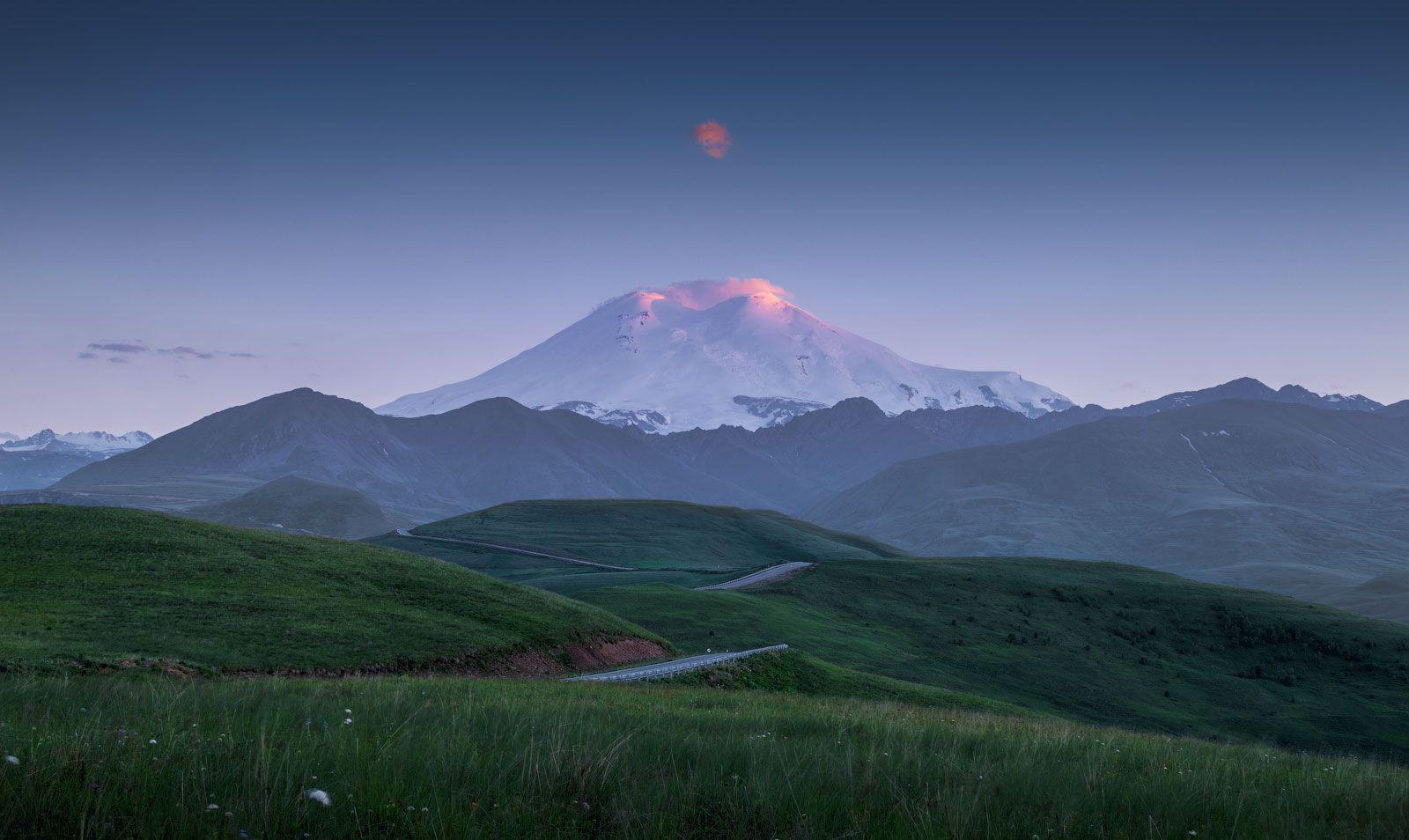 Эльбрус Эльбрус горы кавказ приэльбрусье облако джилы су