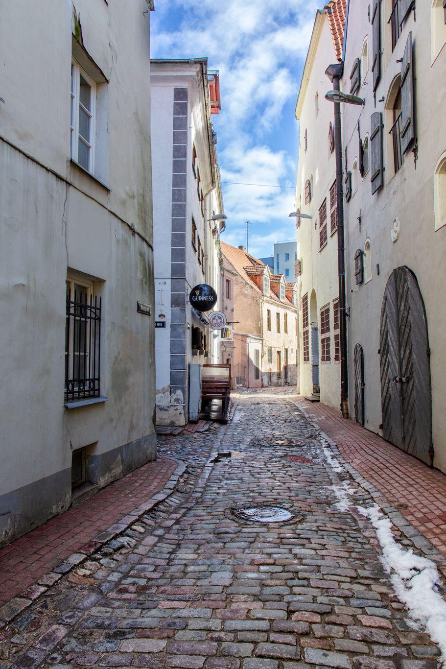 Узкие улочки старого города Старый город Рига