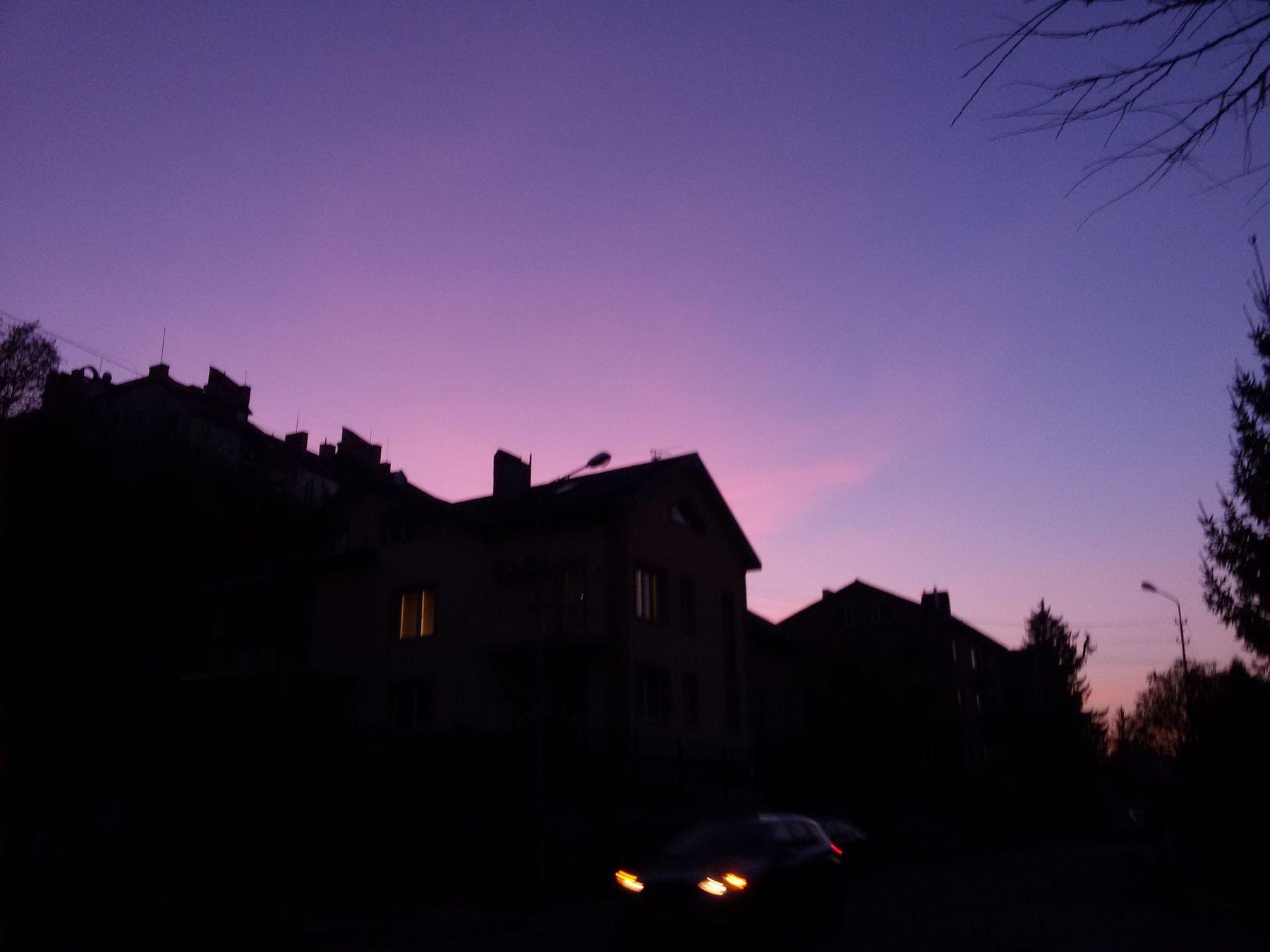 *** лиловый закат