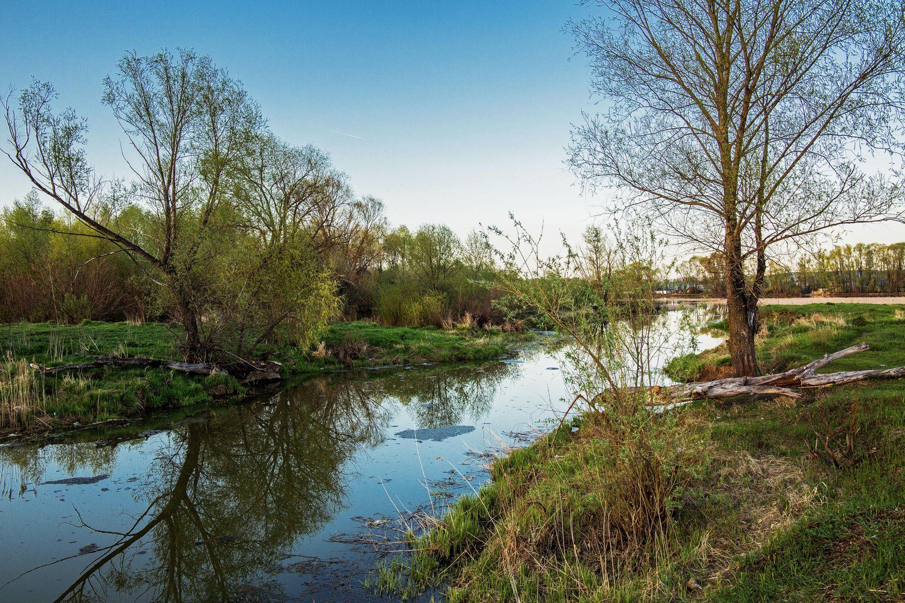 *** природа пейзаж татарстан протока река казанка