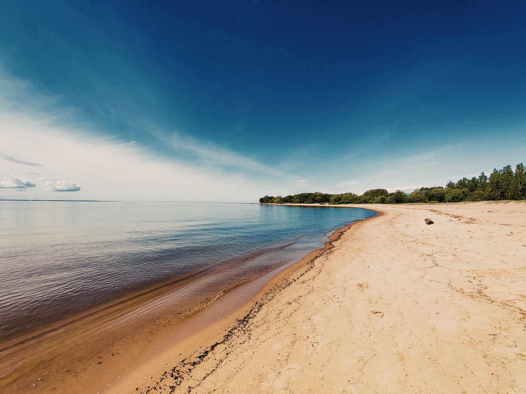 Котлин (free horizon) Финский залив природа пляж песок вода небо Западный Котлин
