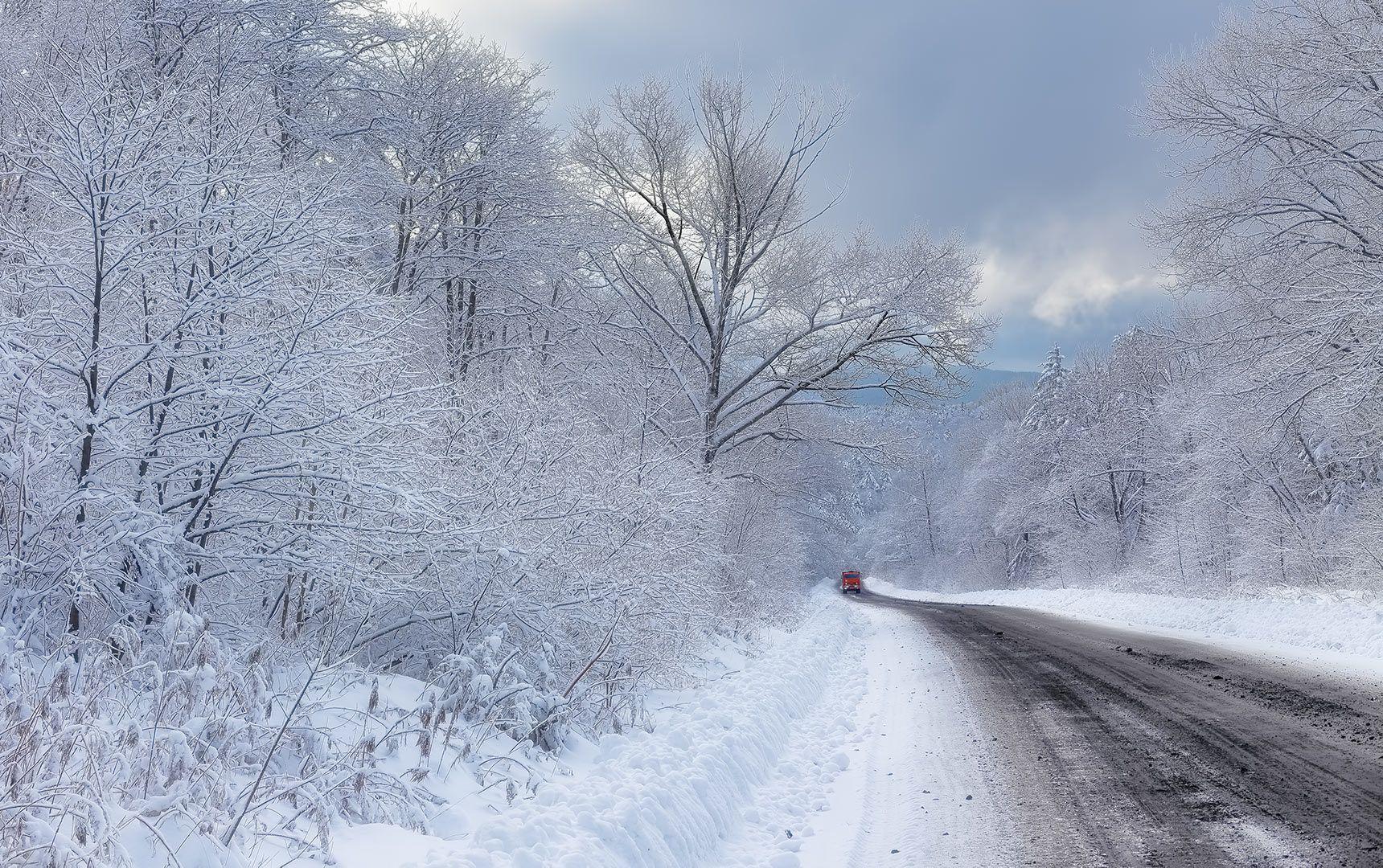 камаз зима Перевал камаз Приморская тайга