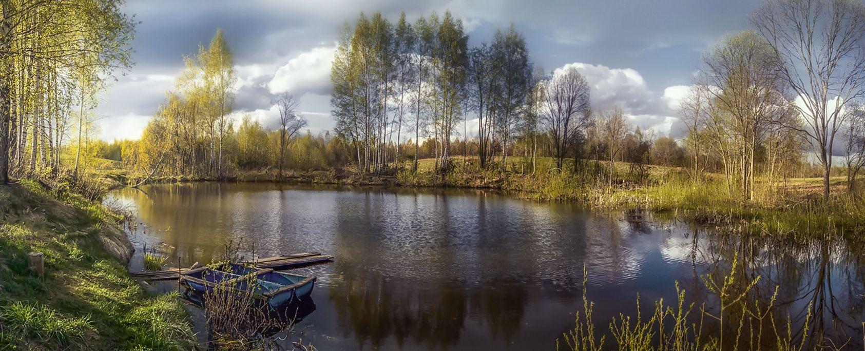 ***Осень на пруду.