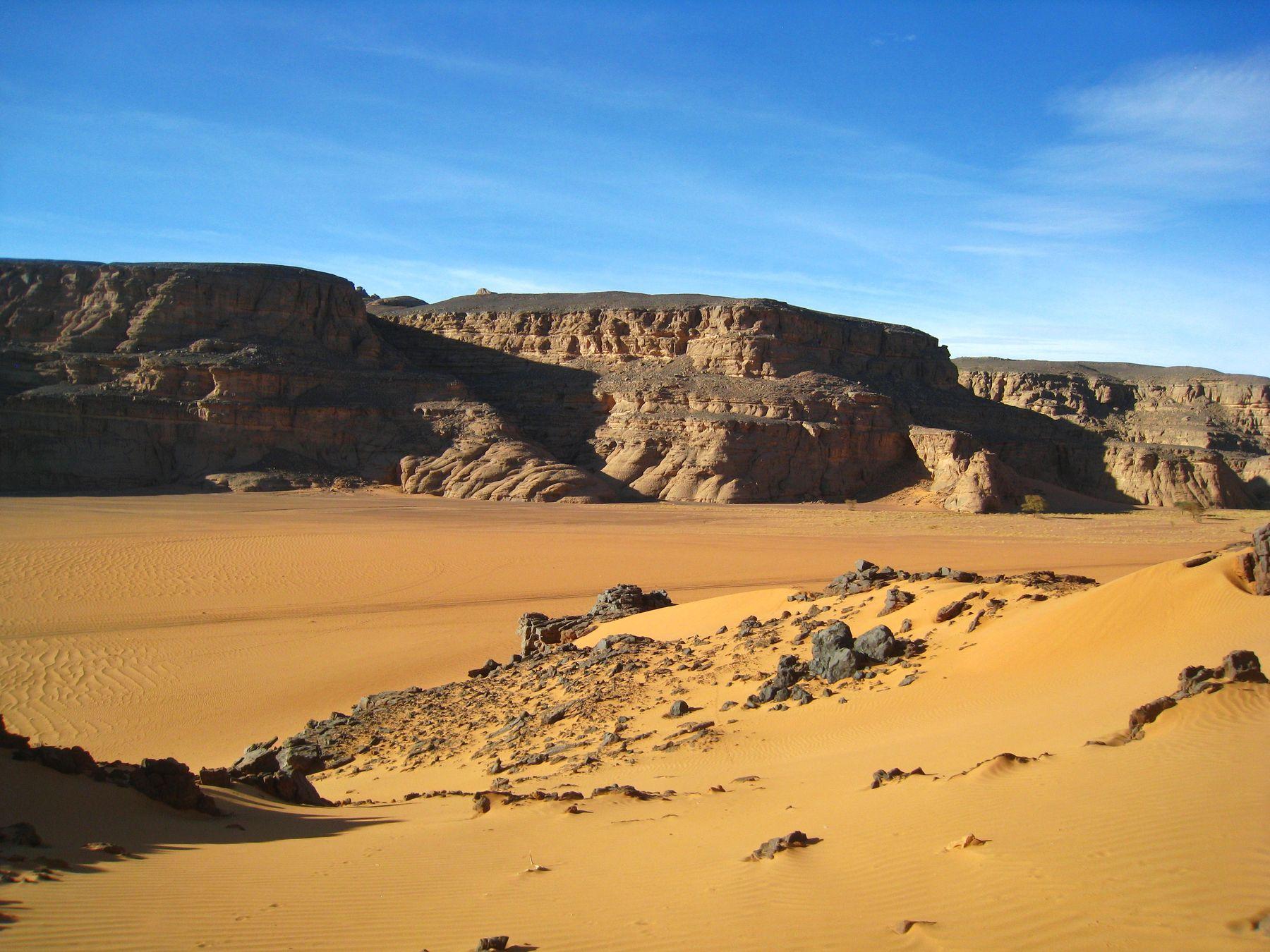 Каньон Эль-Берджи. Алжир пейзаж скалы