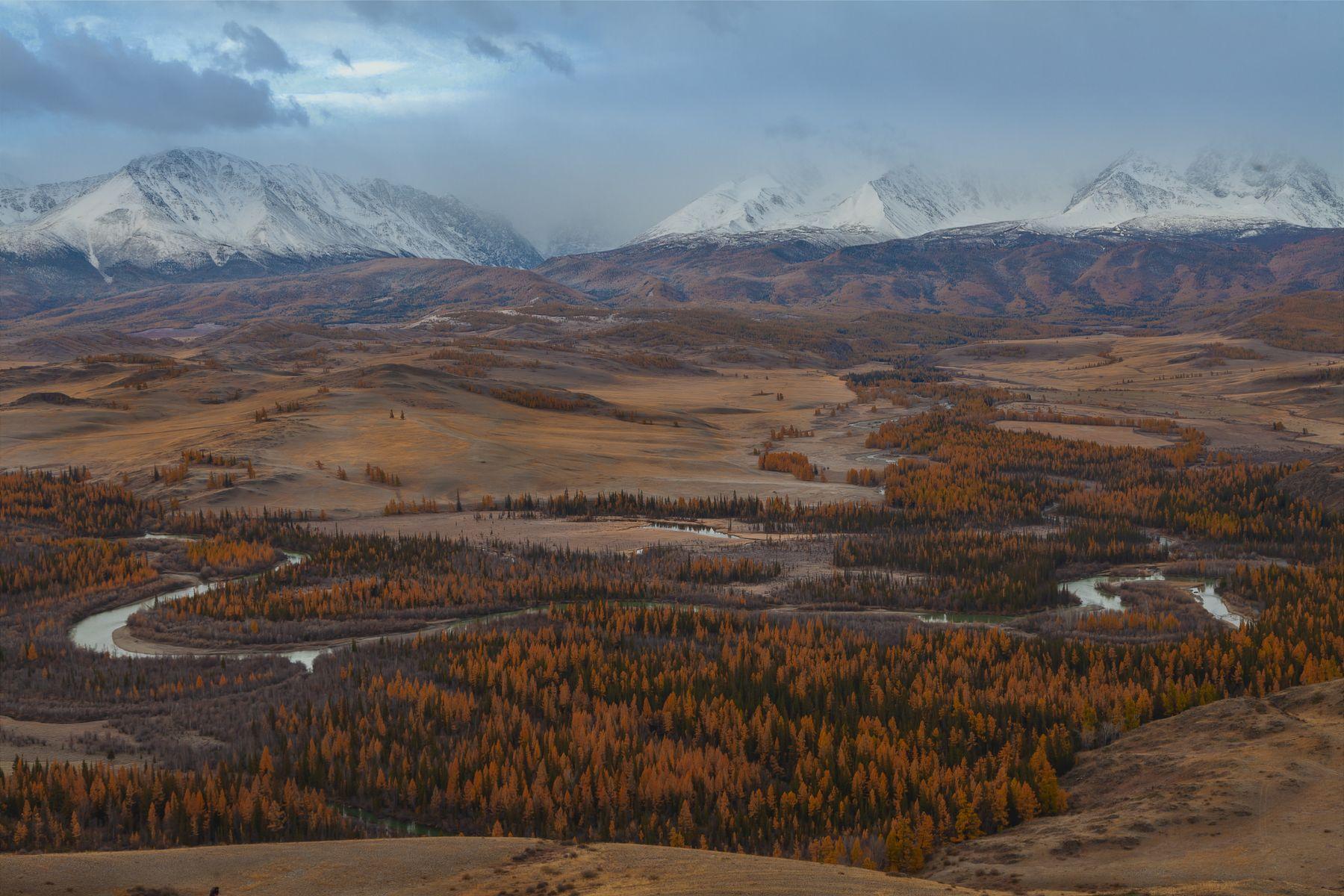Алтайская осень. Северо-Чуйский хребет Алтай республика горный Чуя утро