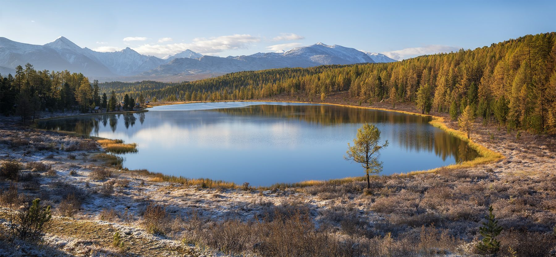 ...Осенний вид на озеро...