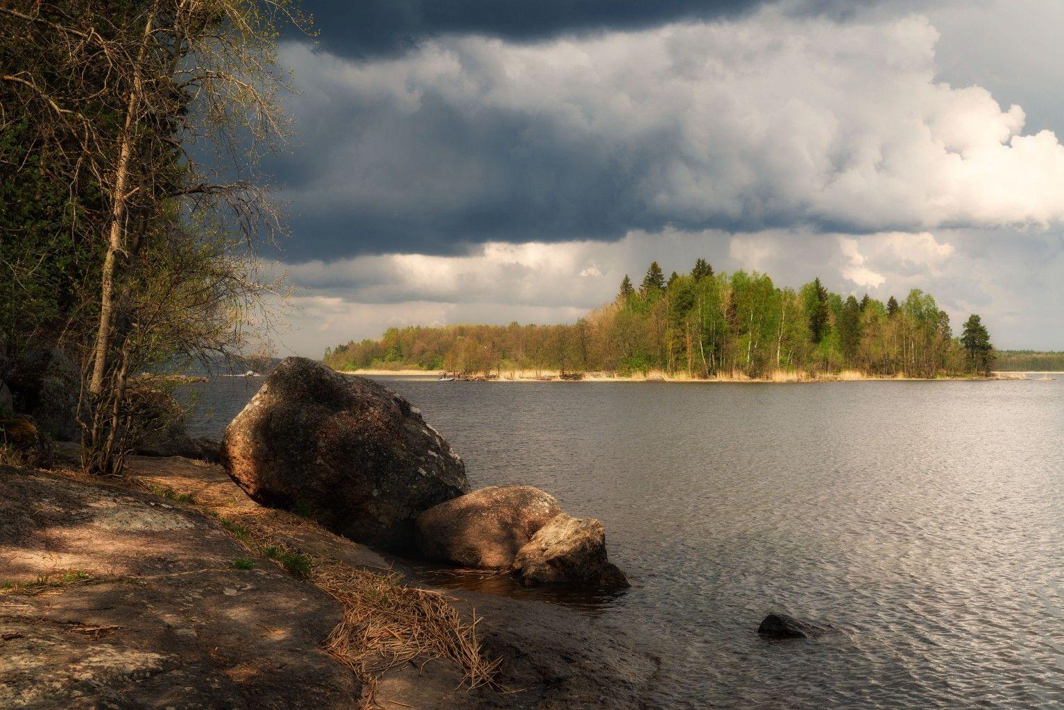 Перед грозой выборг весна монрепо природа пейзаж гроза