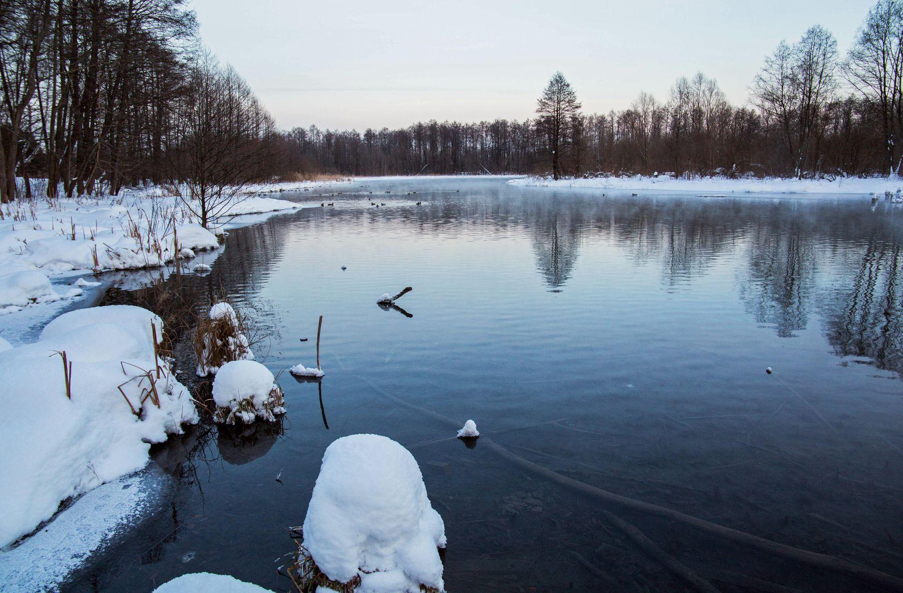 озеро Большое голубое,Татарстан природа пейзаж зима татарстан щербаково озеро большое голубое