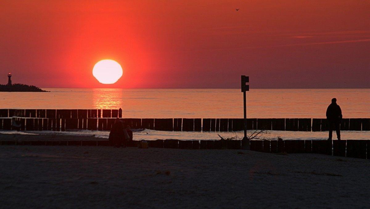 Вот и кончился день Море солнце вечер
