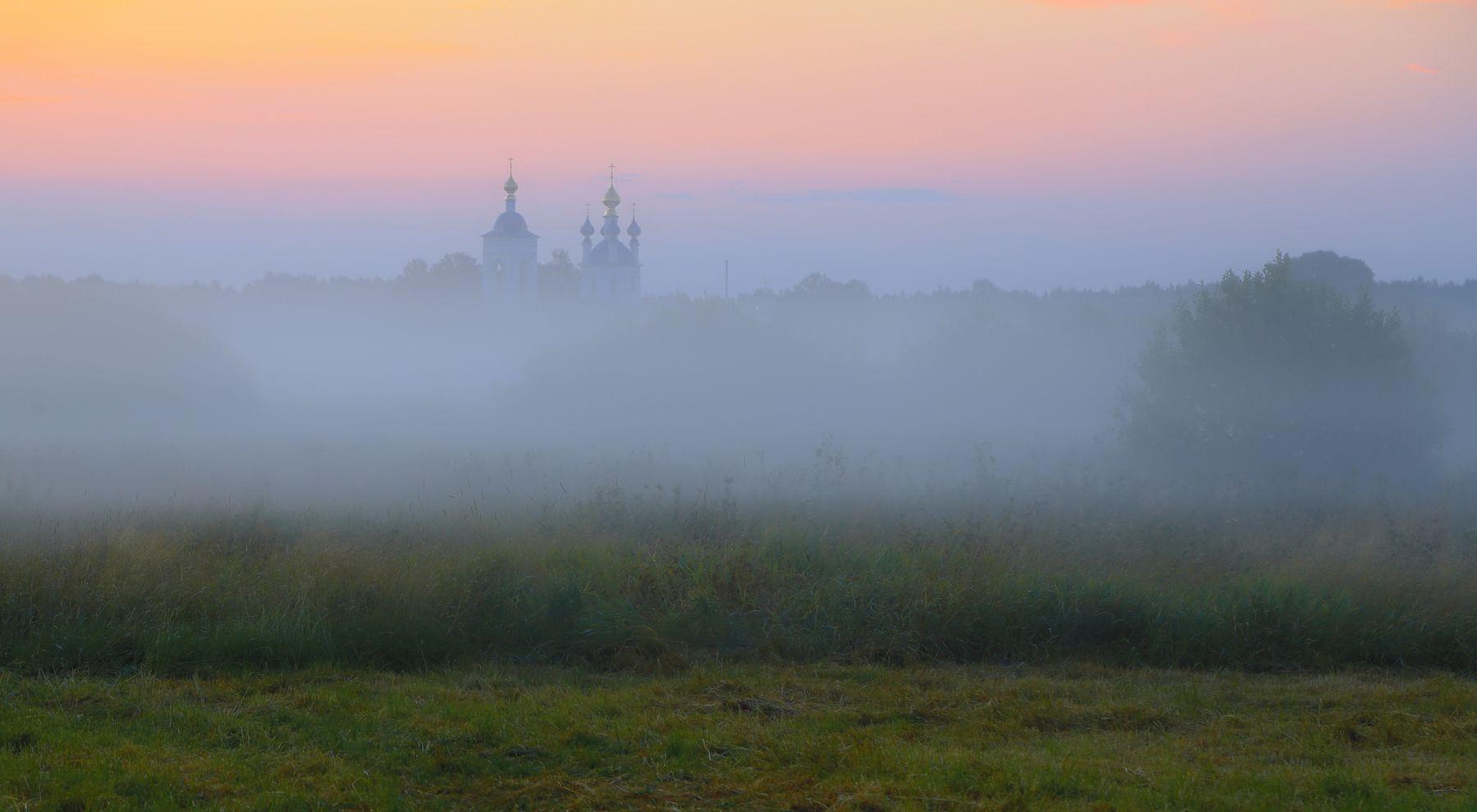 Утренний мираж ... мираж пейзаж утро рассвет