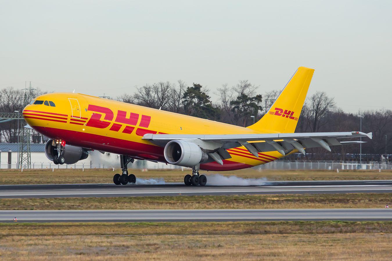 A300. Авиация самолёт посадка DHL Airbus