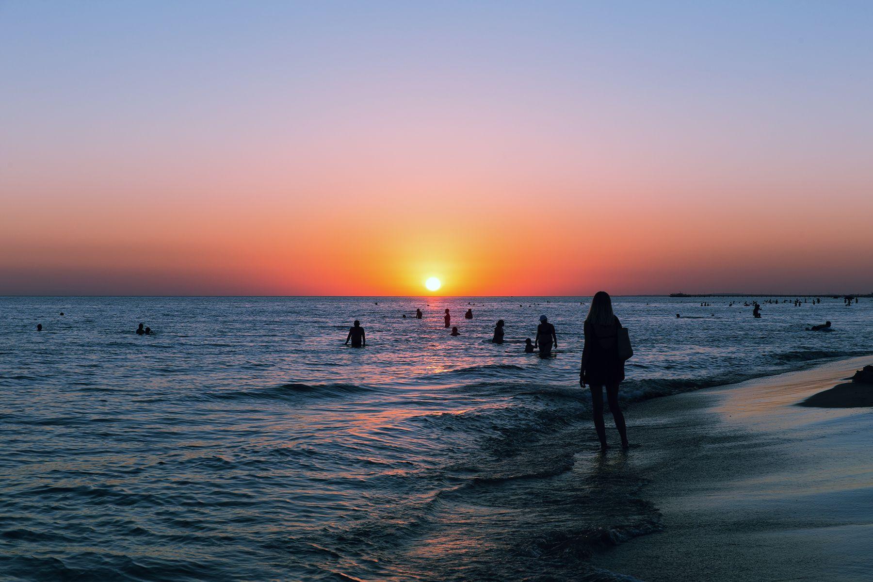 Стремление к Солнцу... море солнце закат пляж на пляже красота вау анапа джемете счастье