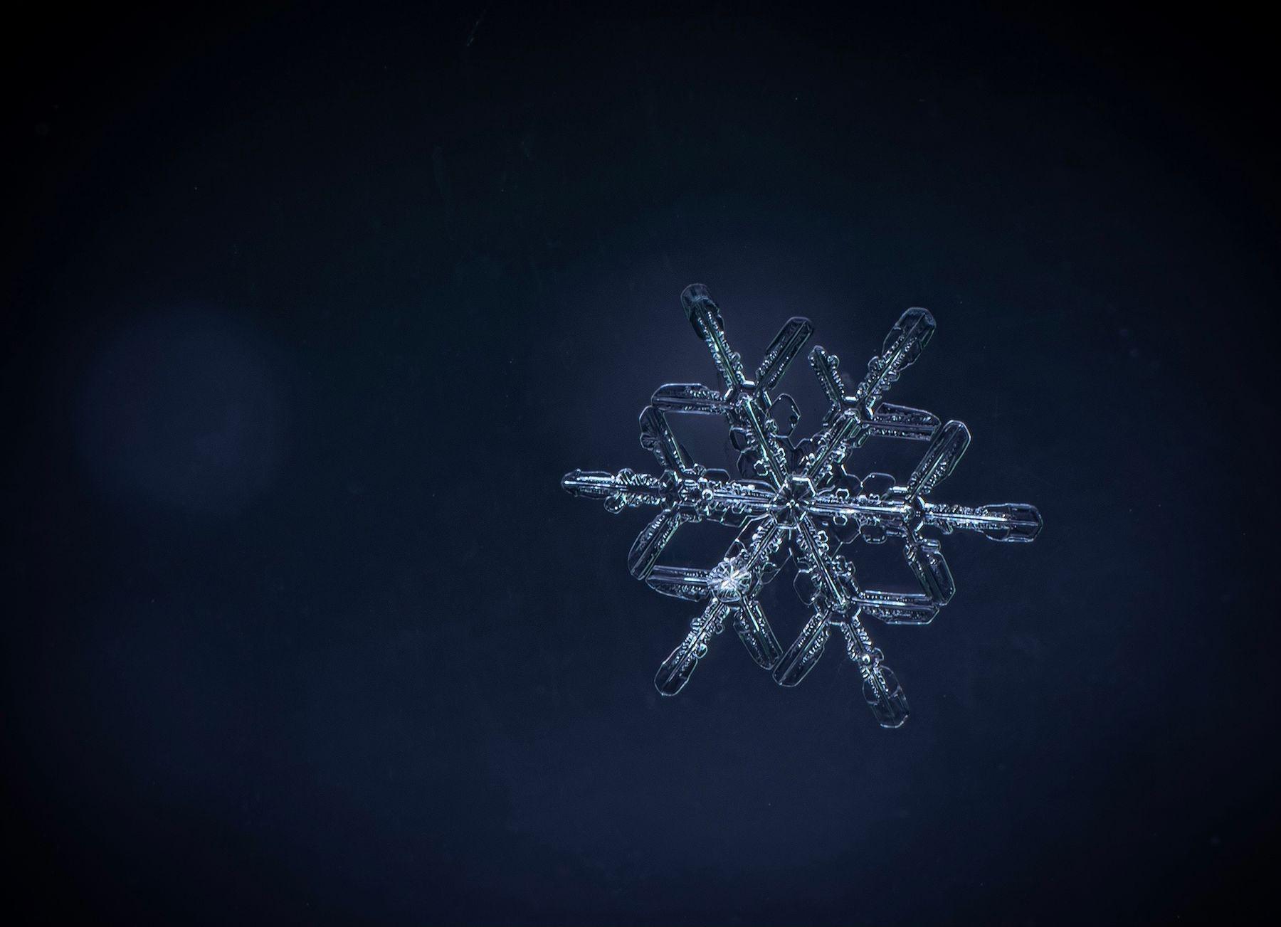 Геометрия Снег снежинка макро
