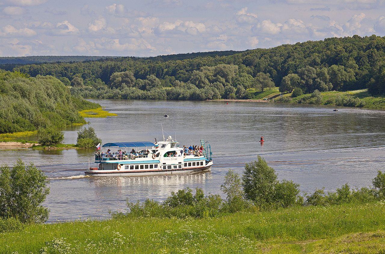 На Оке лето река Ока теплоход